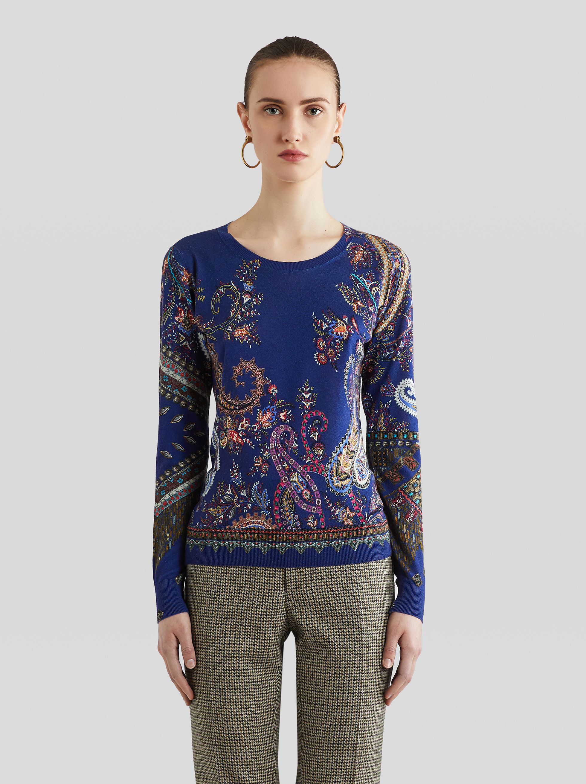 PAISLEY SILK AND CASHMERE JUMPER