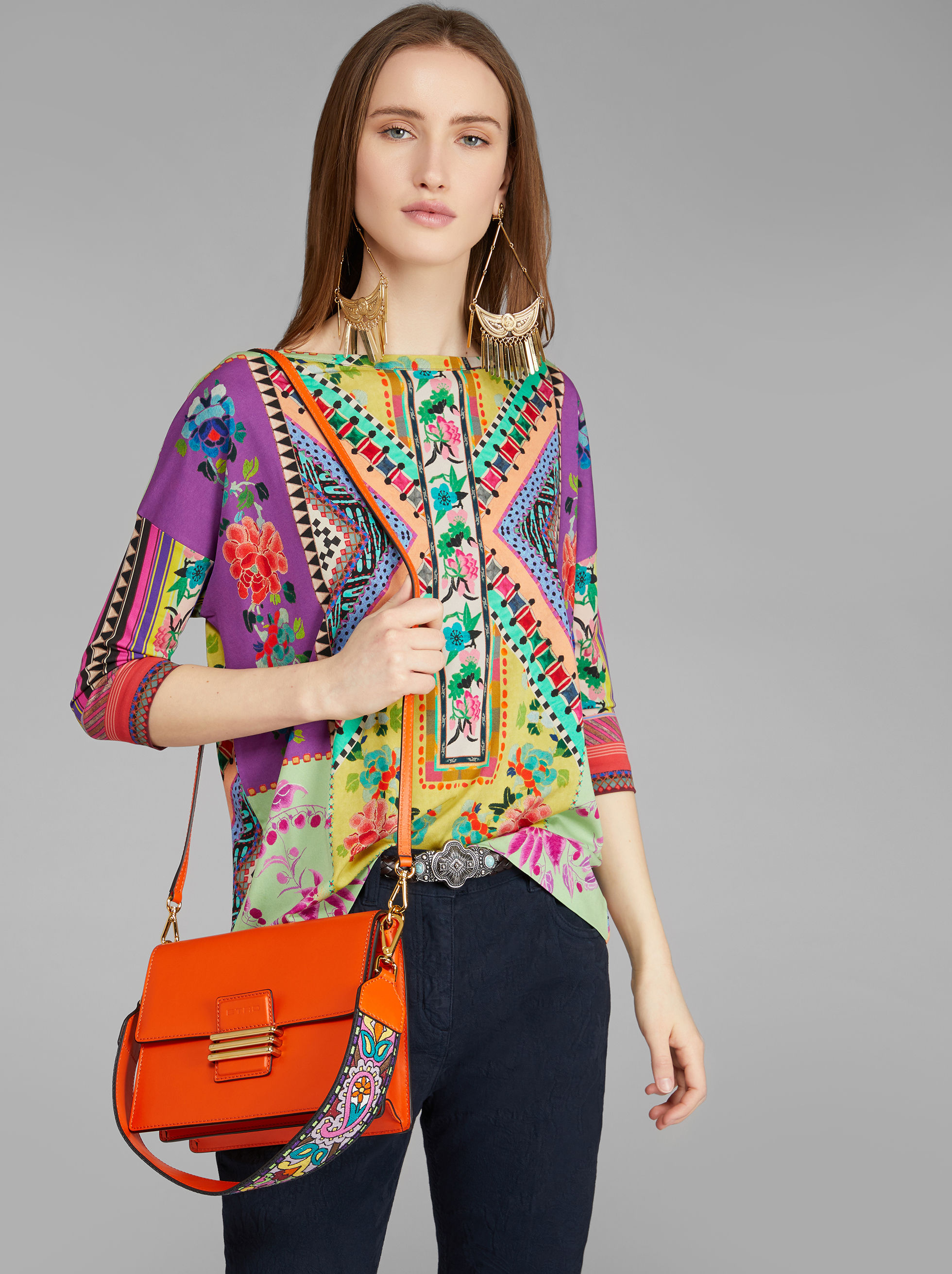 LEATHER RAINBOW SHOULDER BAG
