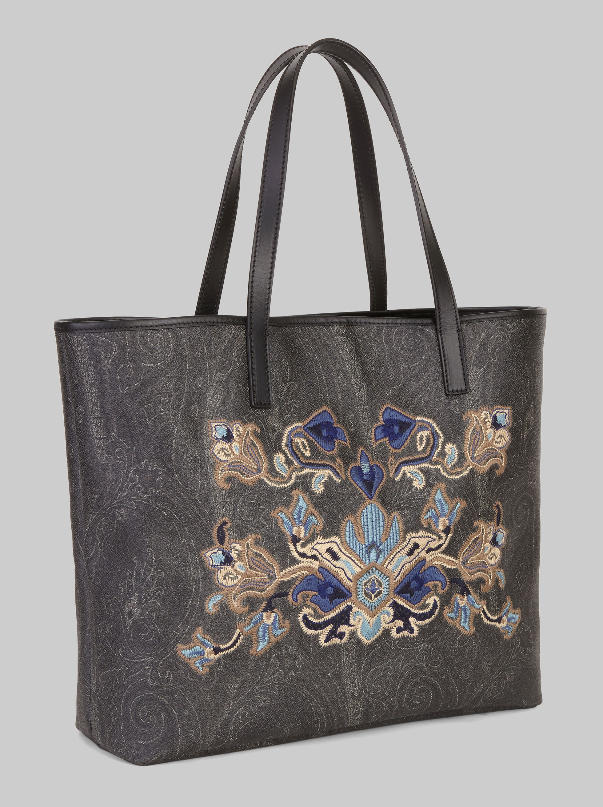 SHOPPER BAG WITH EMBROIDERY