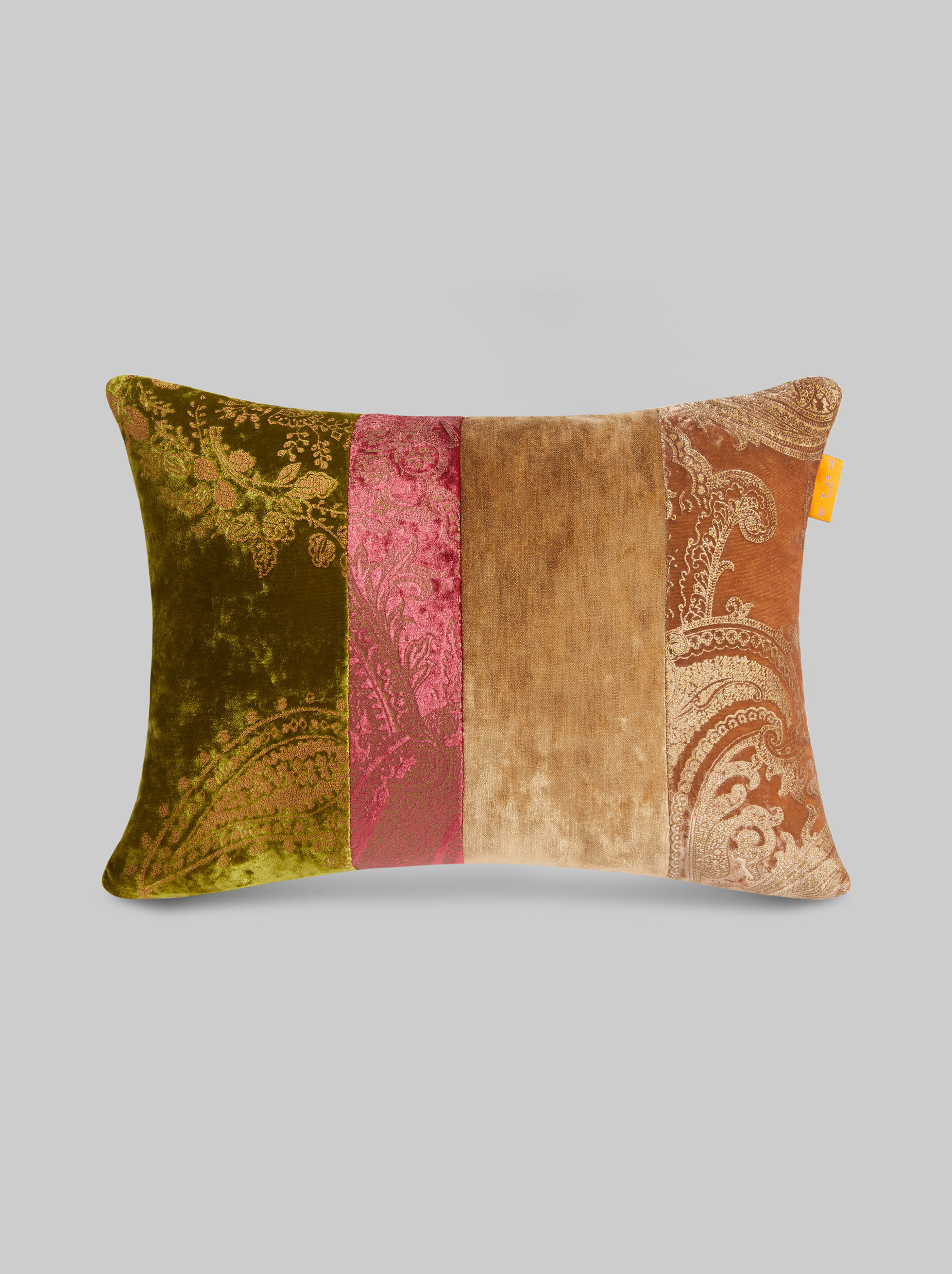 VELVET PATCHWORK THROW PILLOW