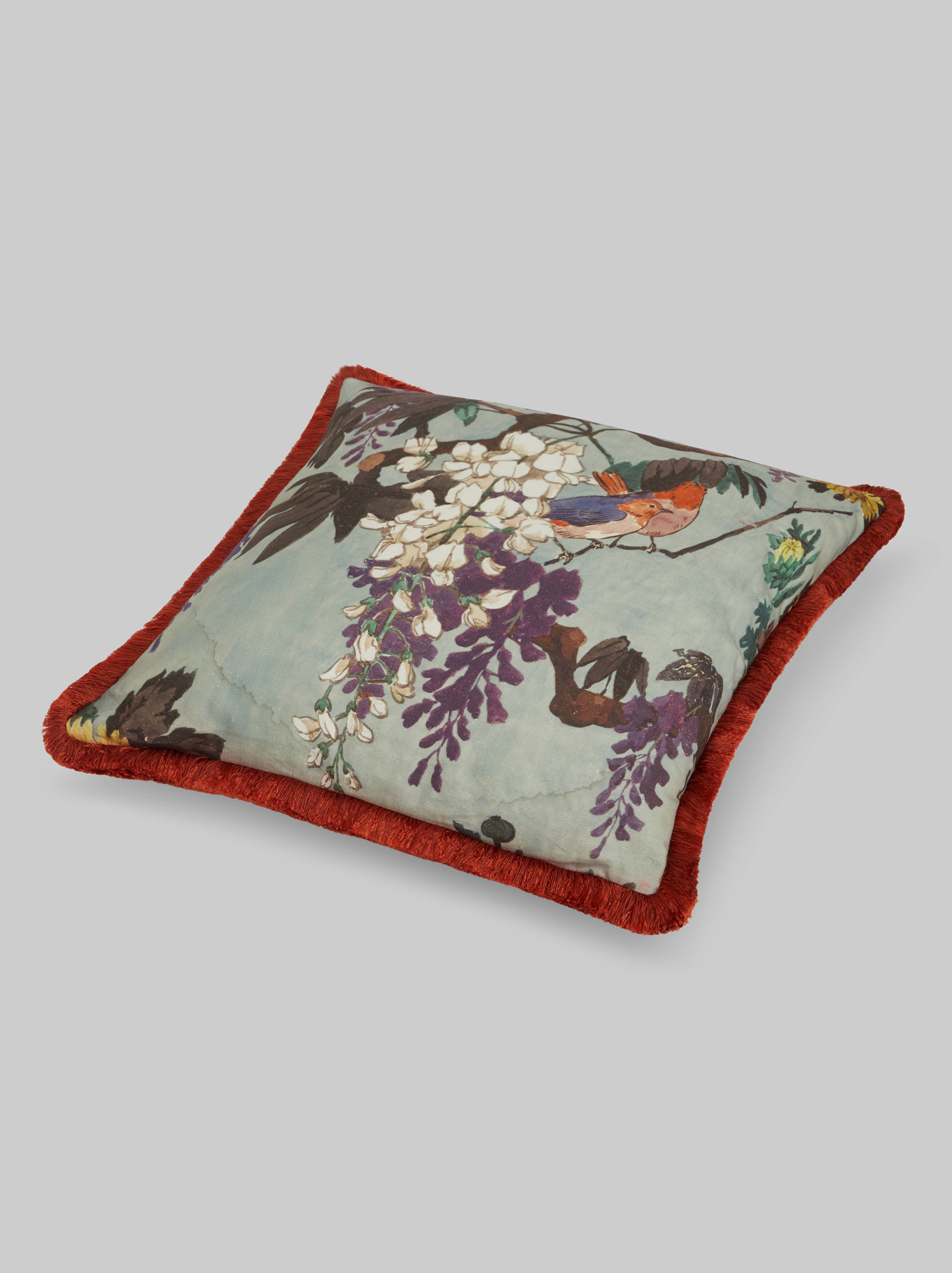 CUSHION WITH PRINTED FRINGE
