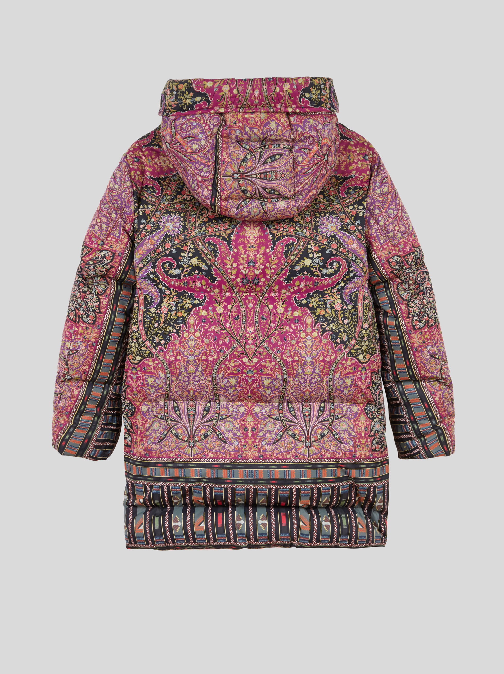 FLORAL PAISLEY PRINT DOWN JACKET