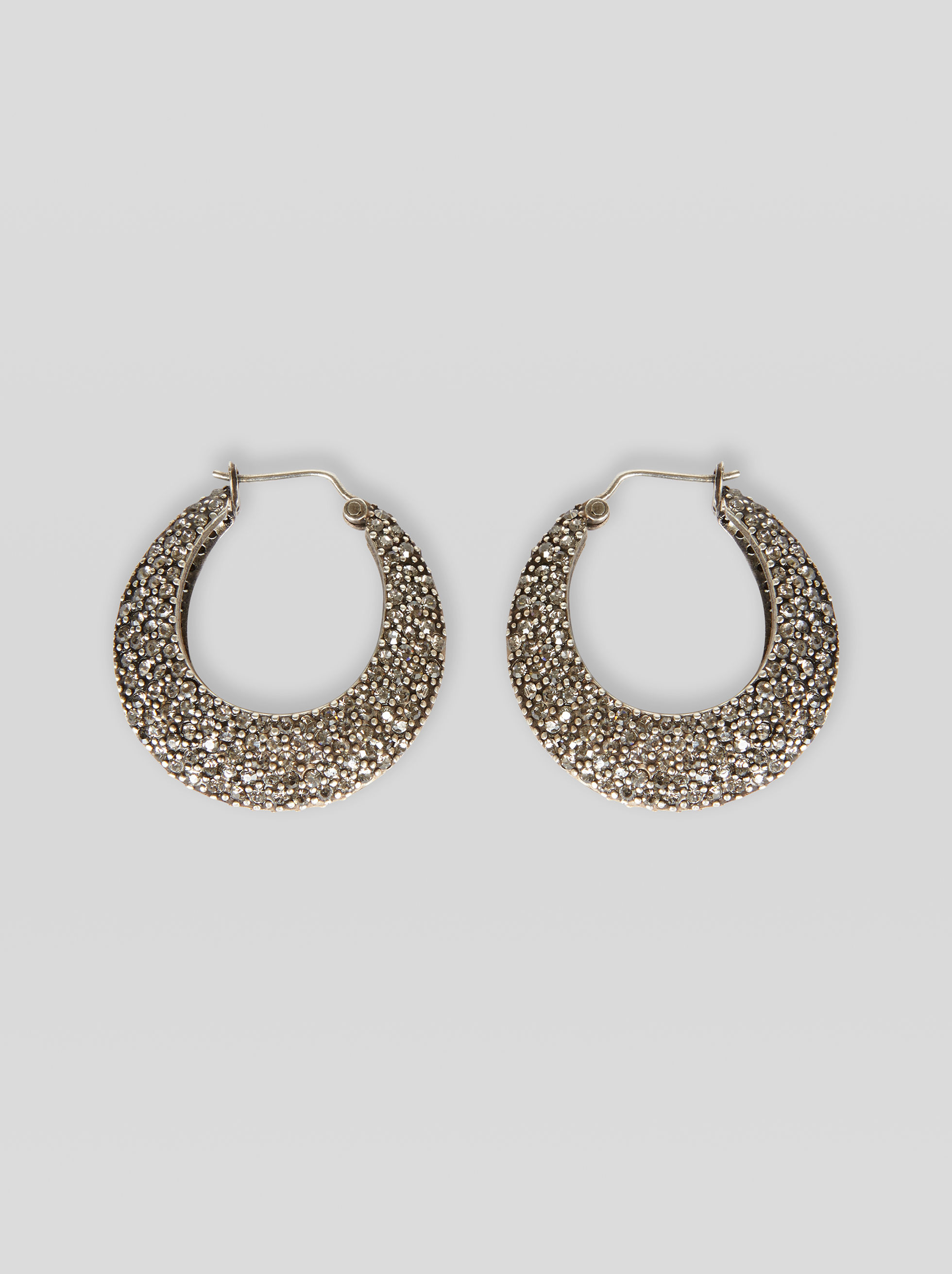CIRCULAR EARRINGS WITH RHINESTONES