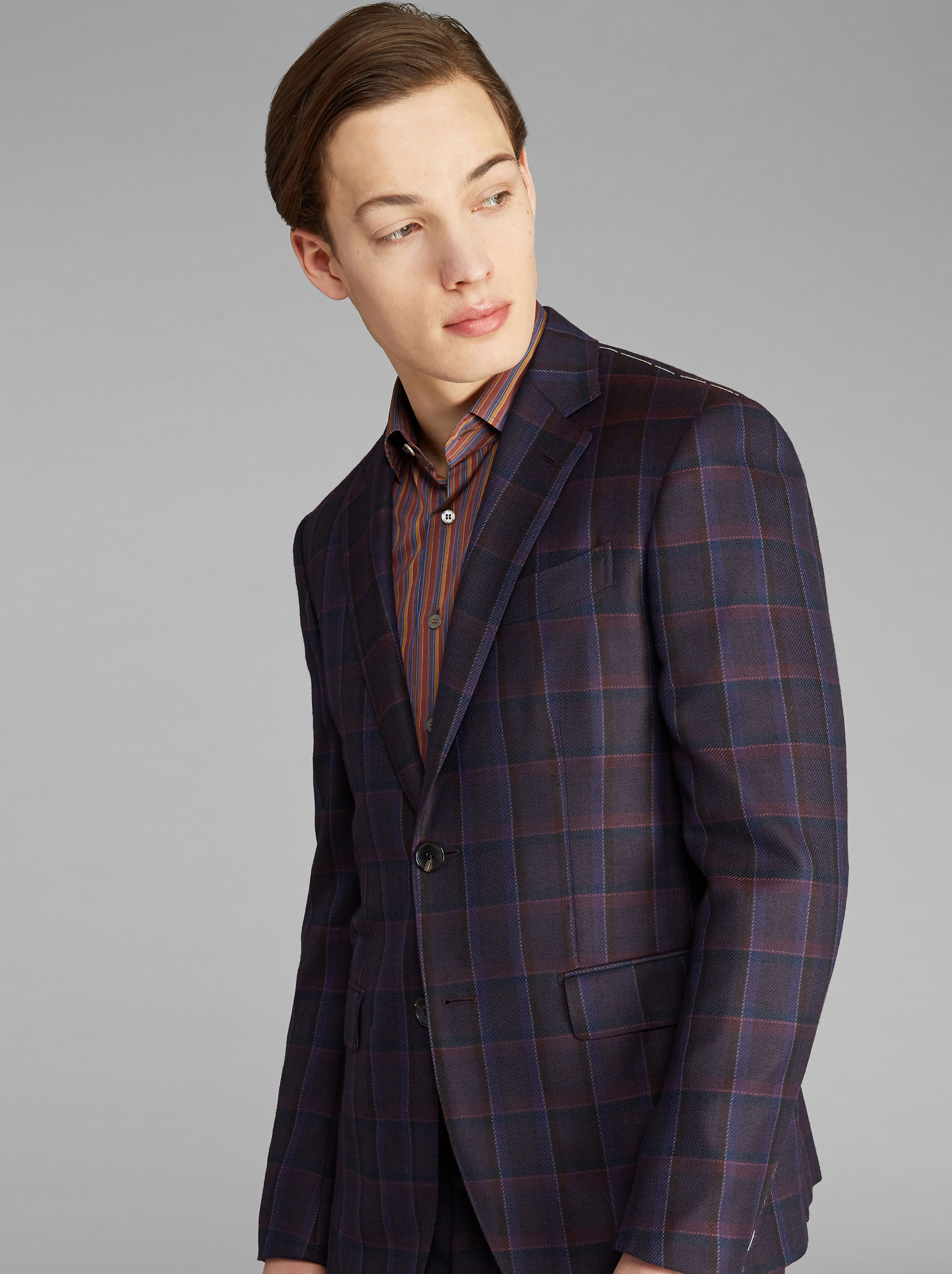 SEMI-TRADITIONAL CHECK SUIT
