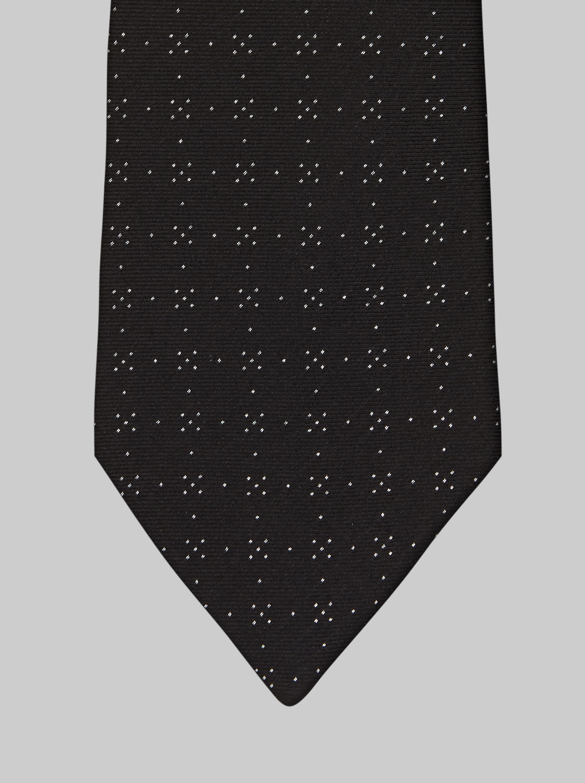DUAL FABRIC SILK TIE WITH LUREX