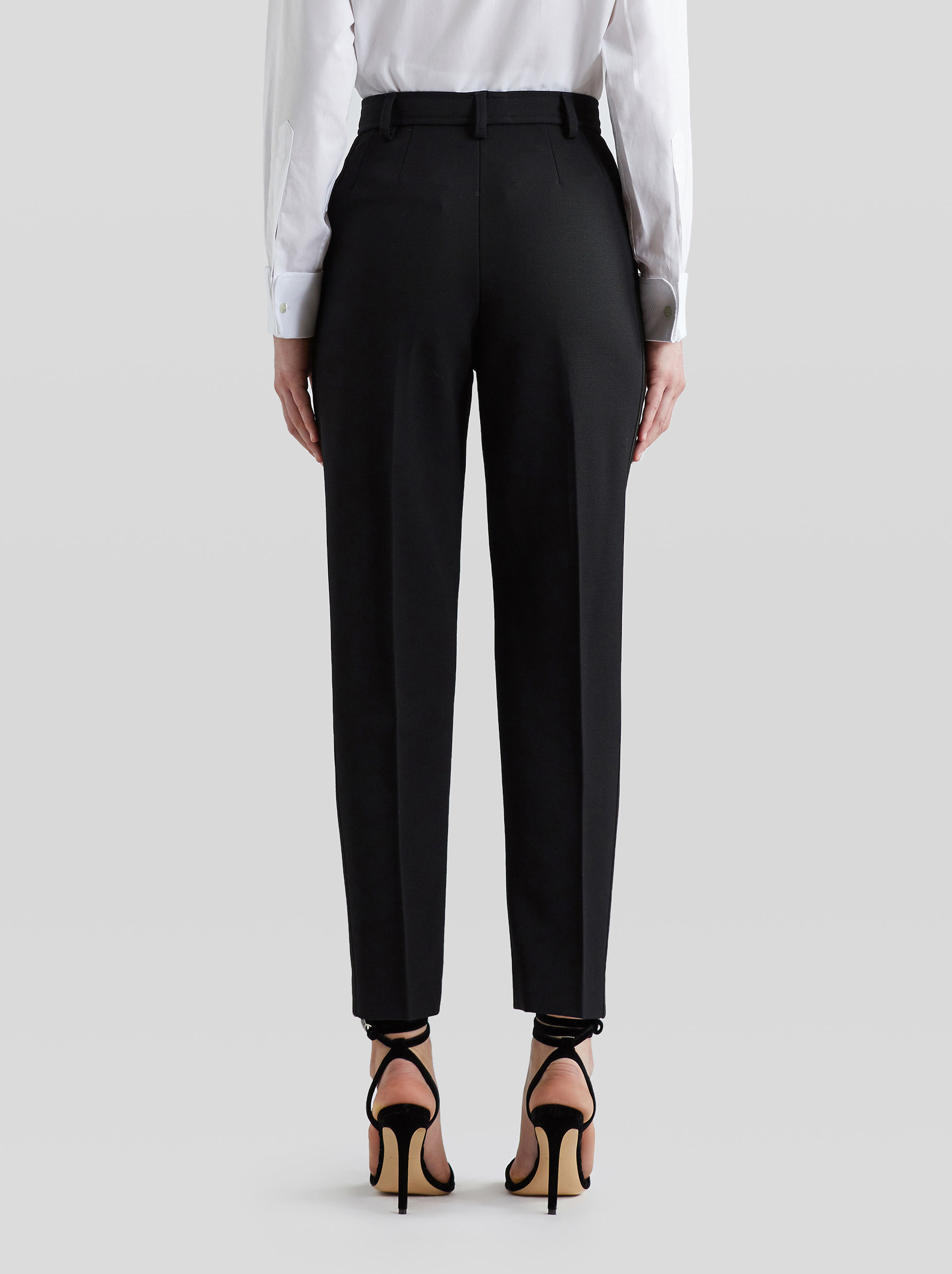 TAILORED TROUSERS WITH TUCKS