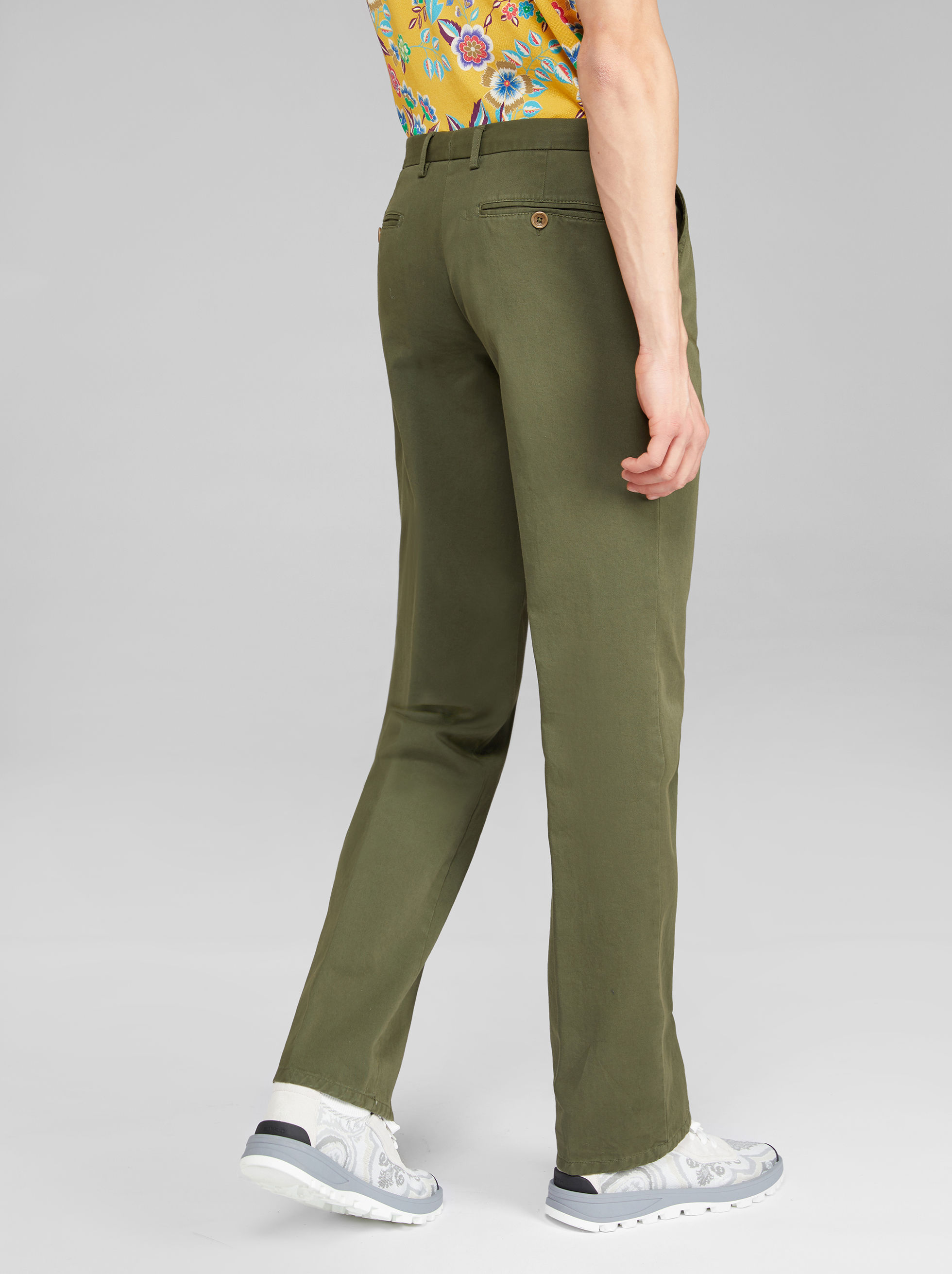 COTTON CHINO TROUSERS