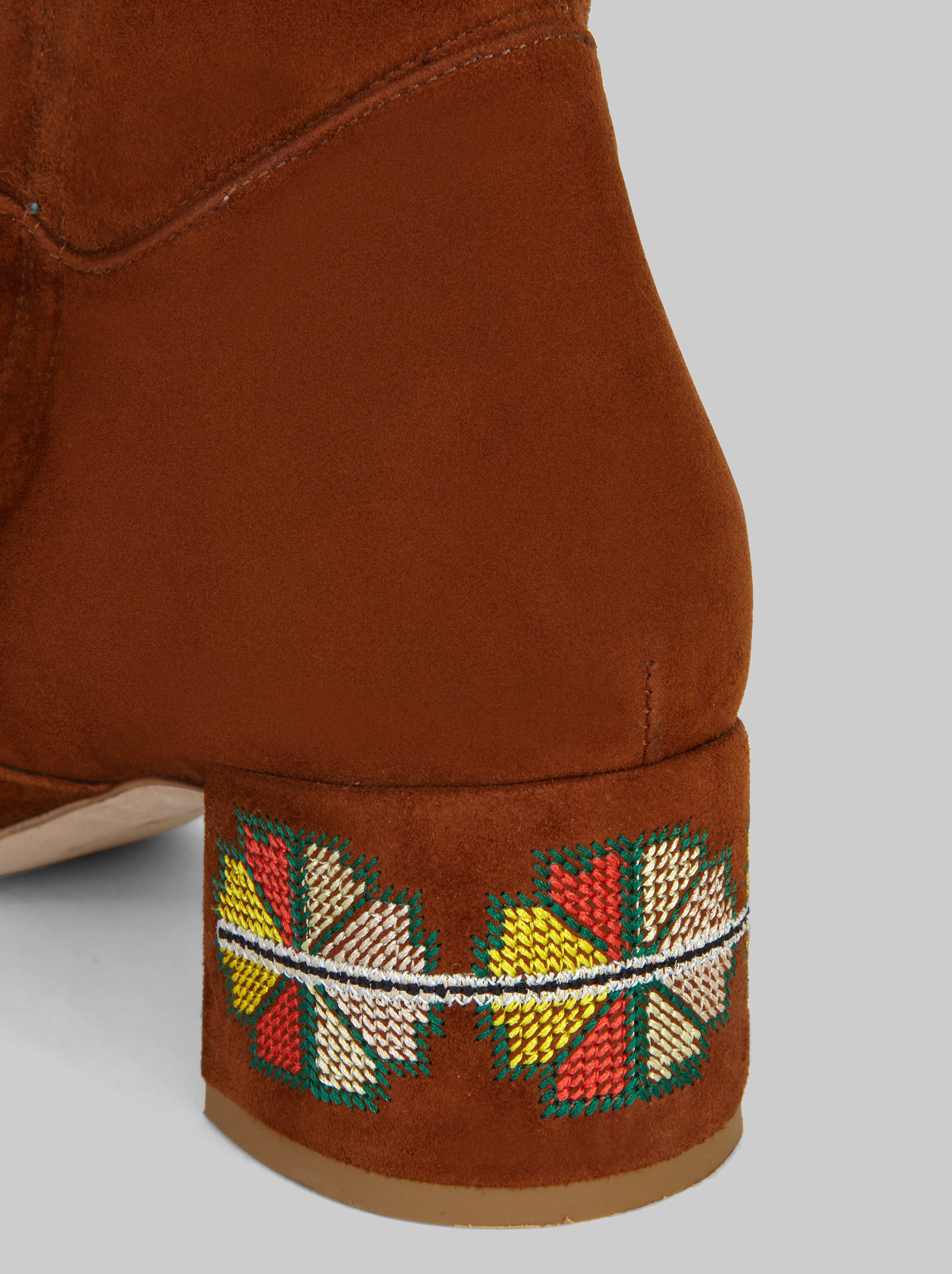 SUEDE BOOTS WITH EMBROIDERY