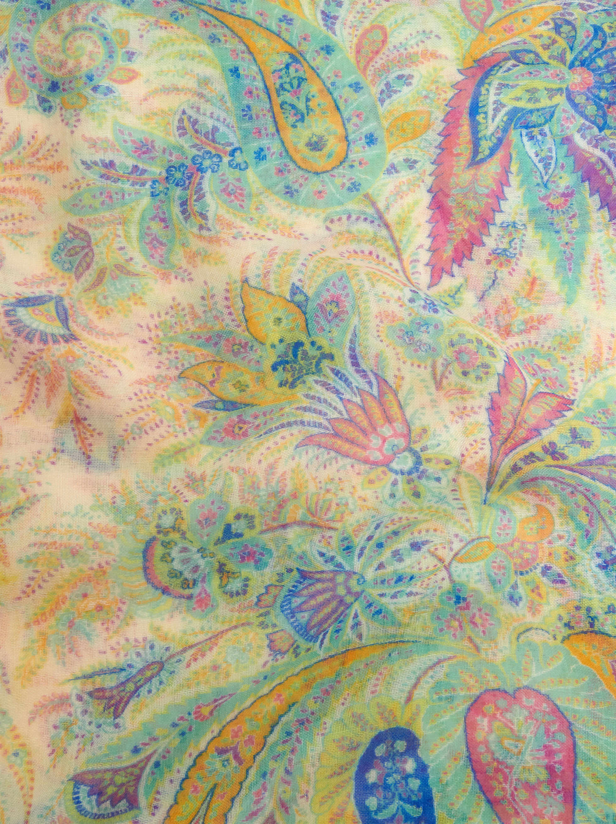 FLORAL PAISLEY CASHMERE SCARF