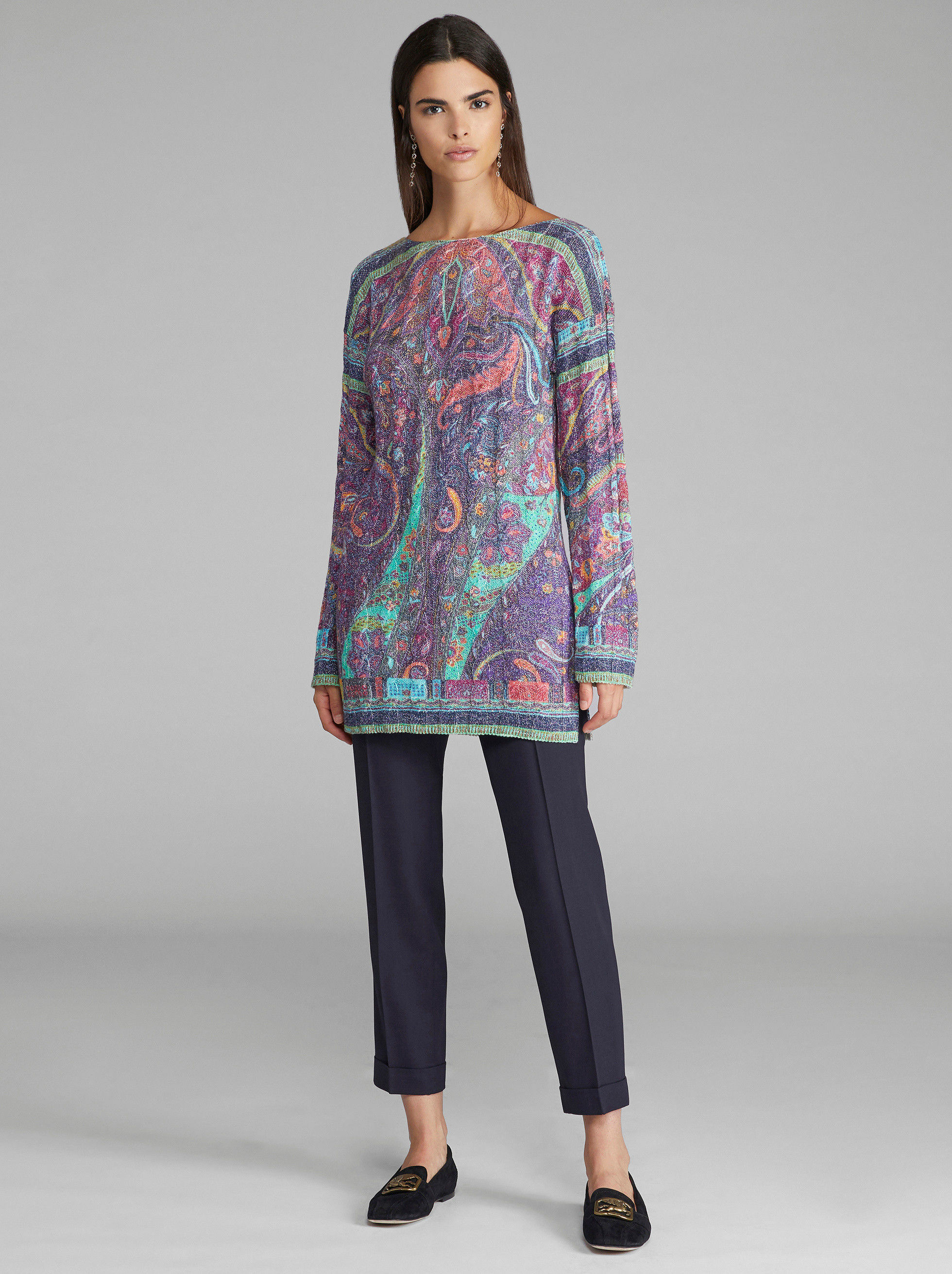 PAISLEY CABLE-KNIT JUMPER