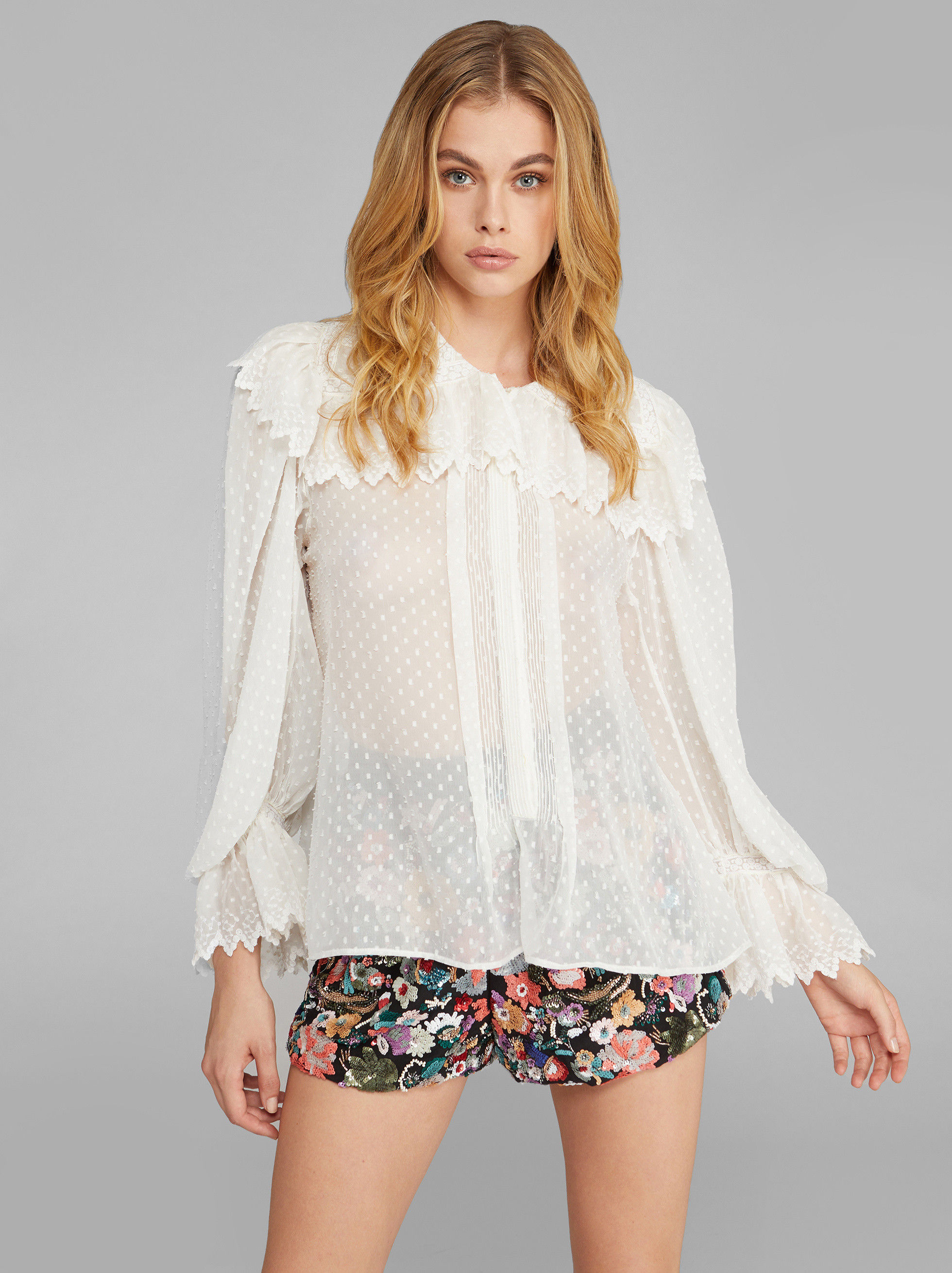 SHIRT WITH PAISLEY LACE