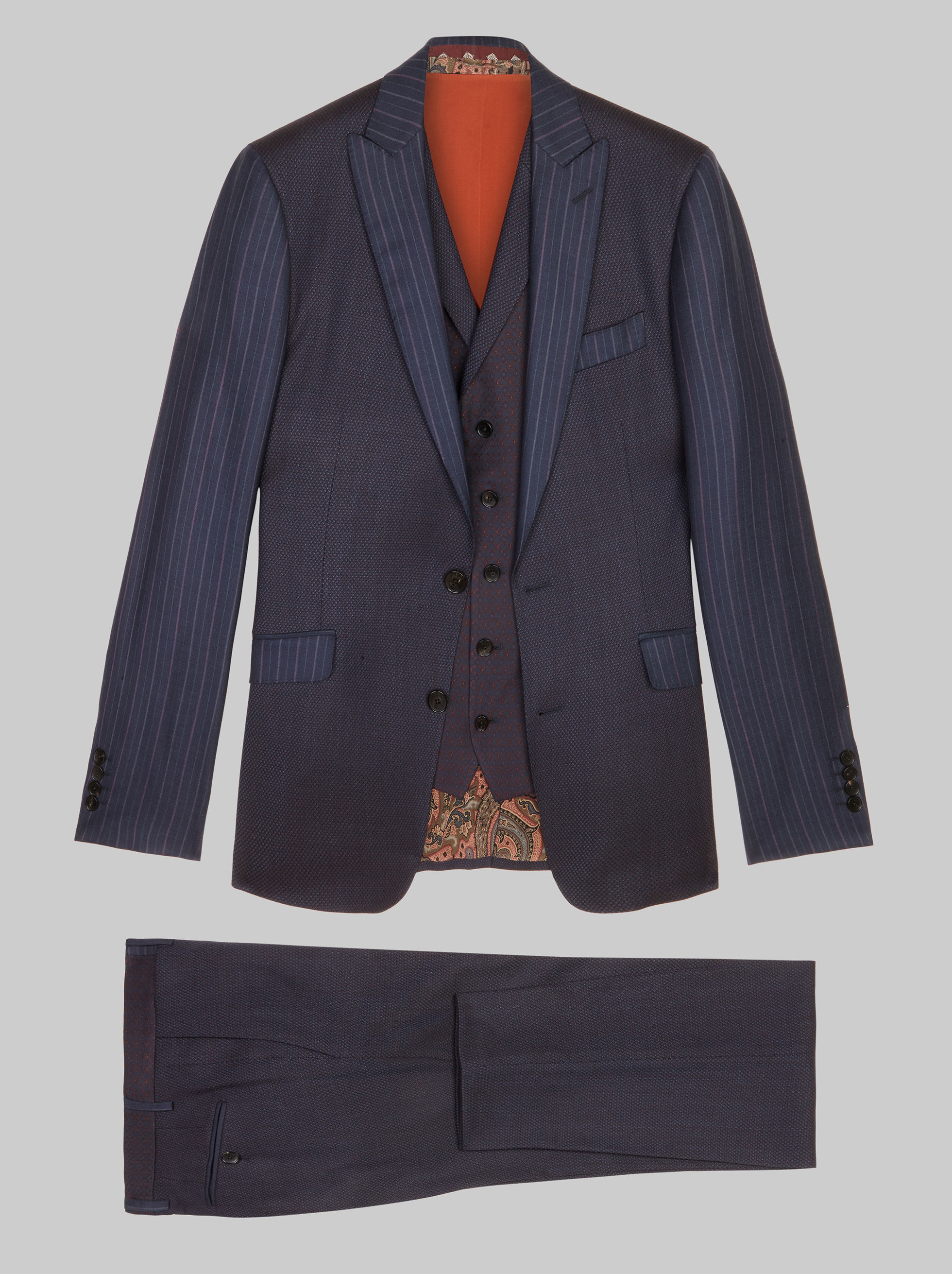 THREE-PIECE PATCHWORK SUIT