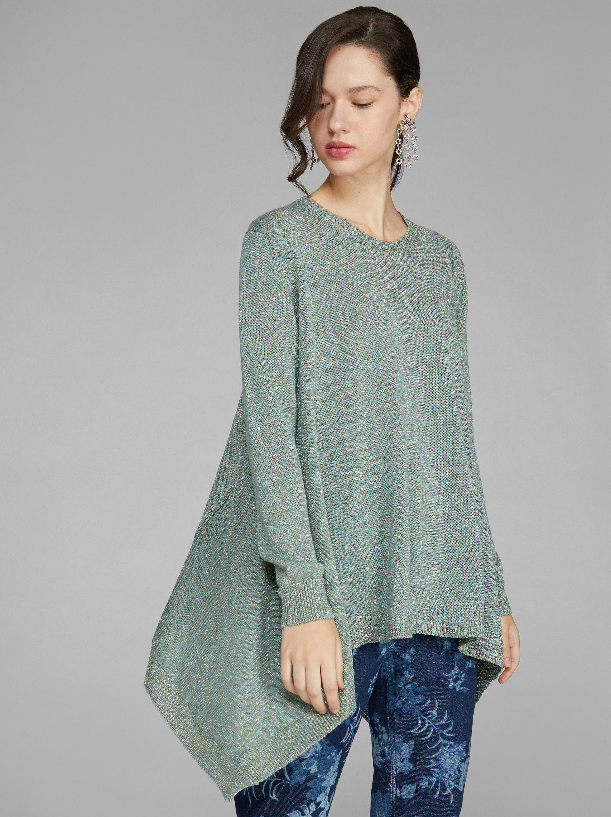 LUREX ASYMMETRIC JUMPER