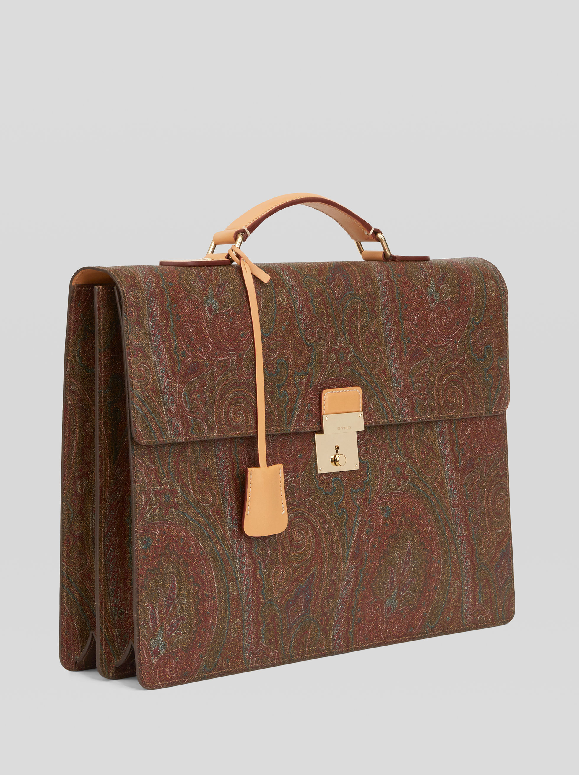 BRIEFCASE WITH PAISLEY MOTIFS