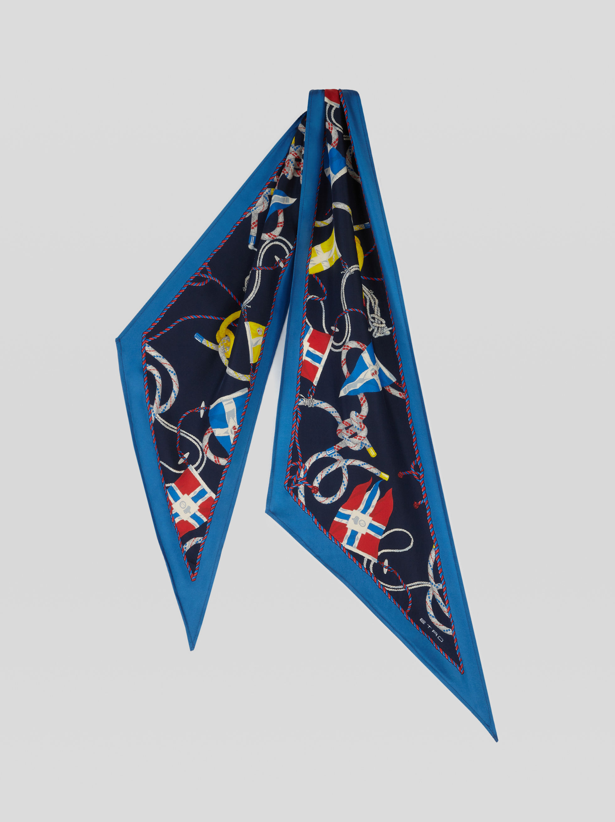 NAUTICAL PRINT SILK SCARF