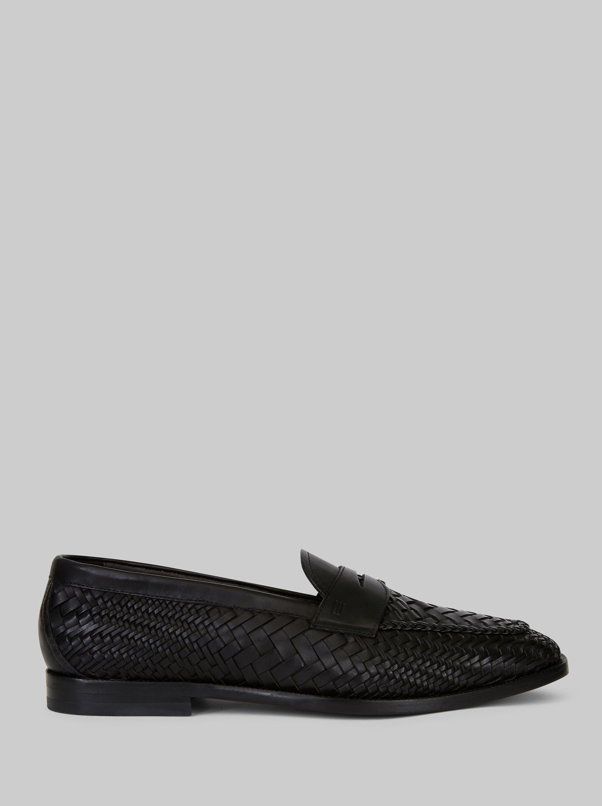 WOVEN LEATHER LOAFERS