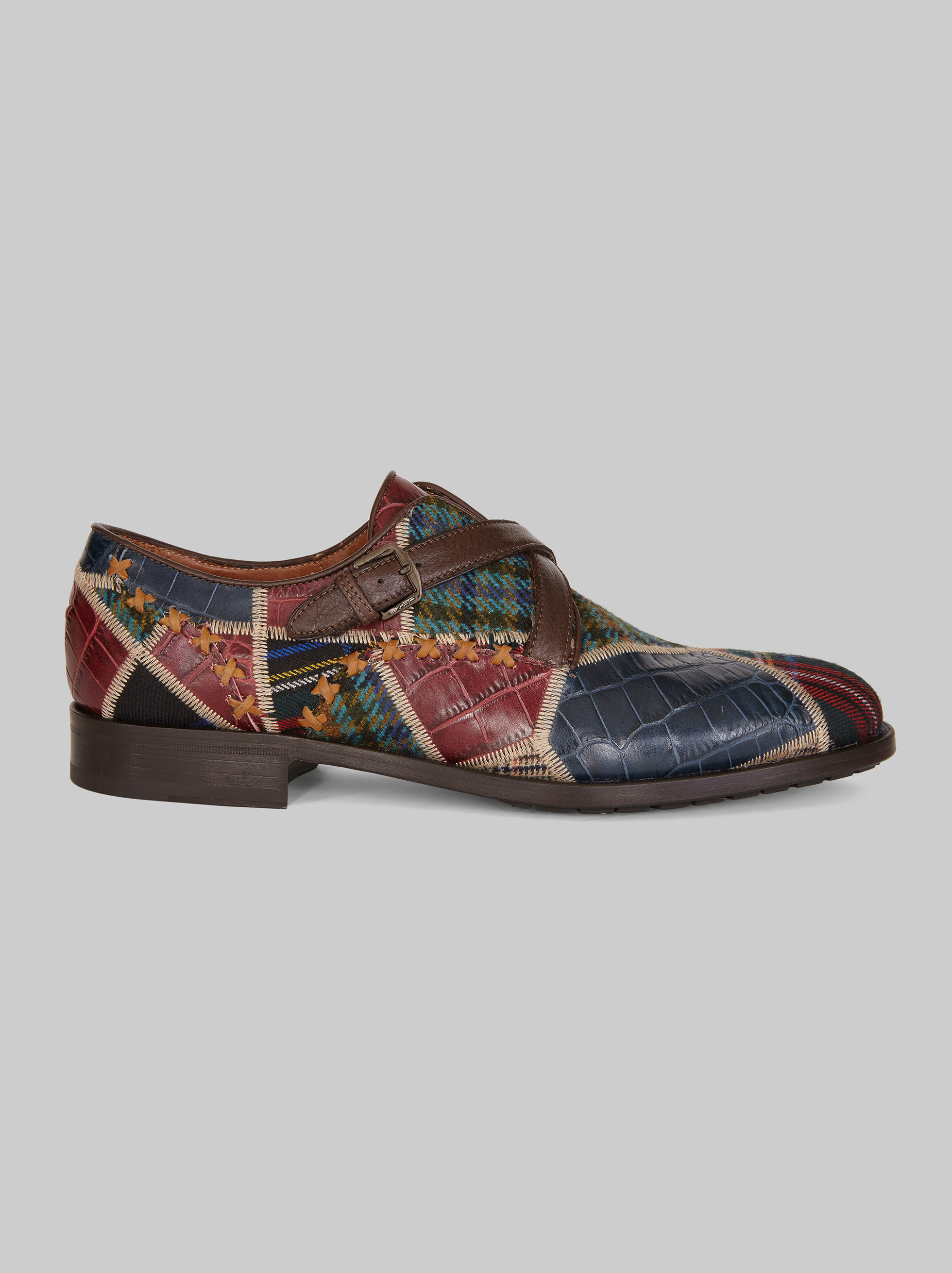PATCHWORK DOUBLE MONK STRAPS