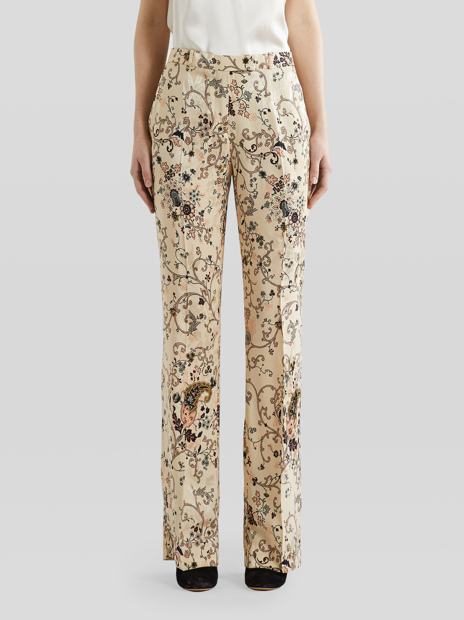 PAISLEY PRINT JACQUARD TROUSERS by Etro, available on etro.com Bella Hadid Pants SIMILAR PRODUCT