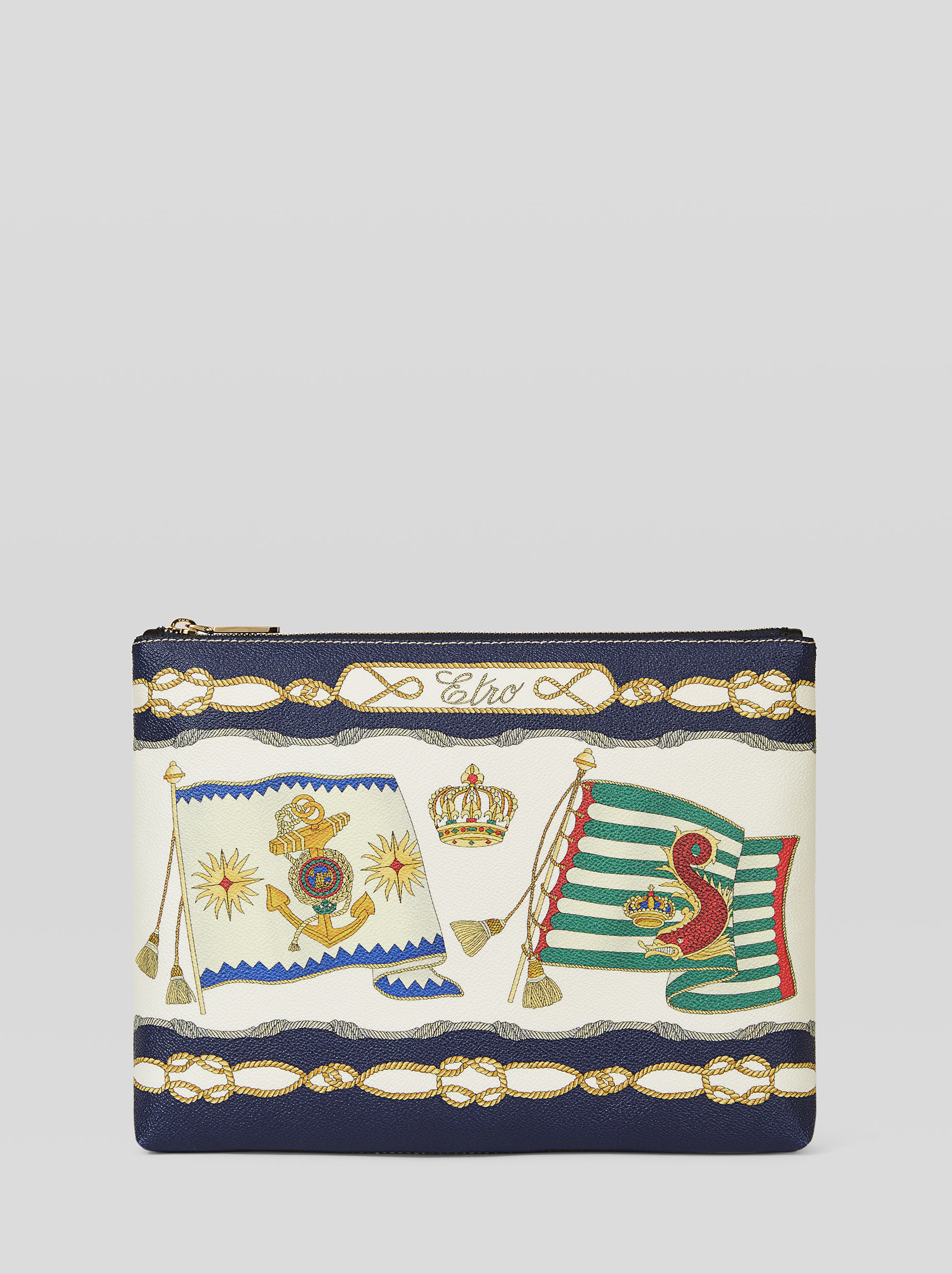 NAUTICAL FLAG CLUTCH BAG