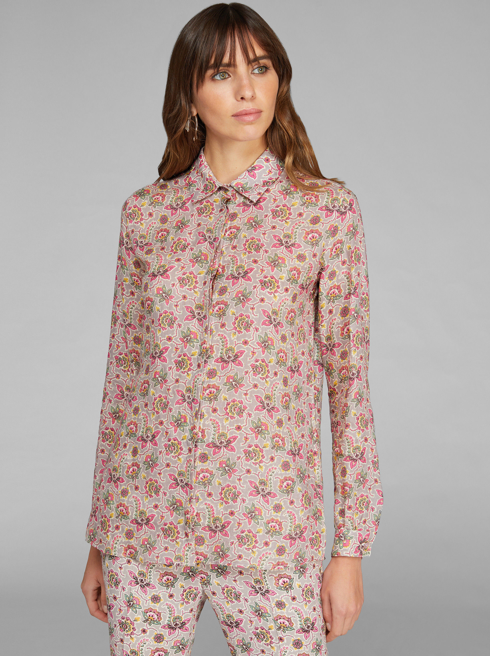 PAISLEY FLORAL PATTERN SHIRT