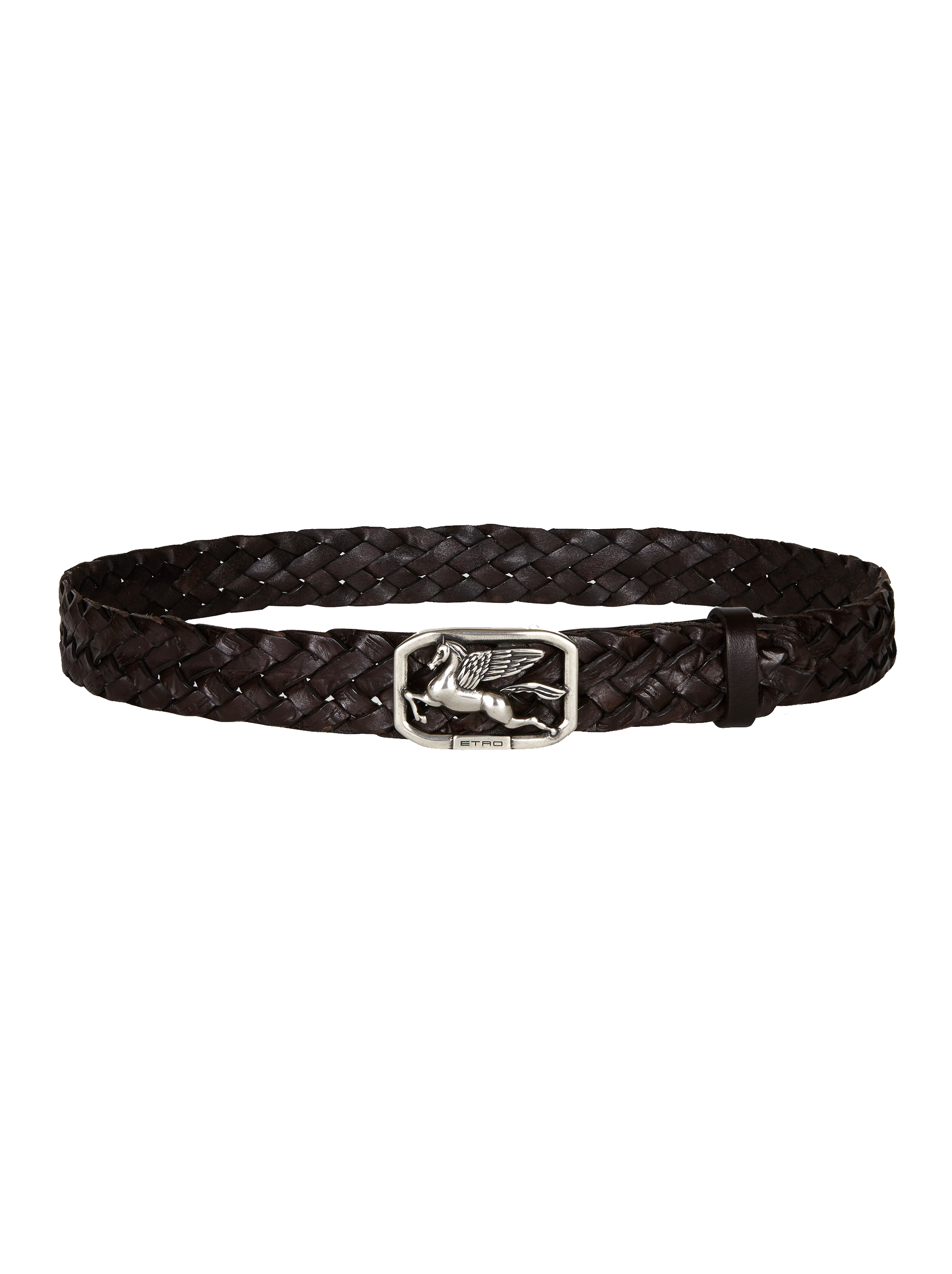 WOVEN LEATHER BELT WITH PEGASO
