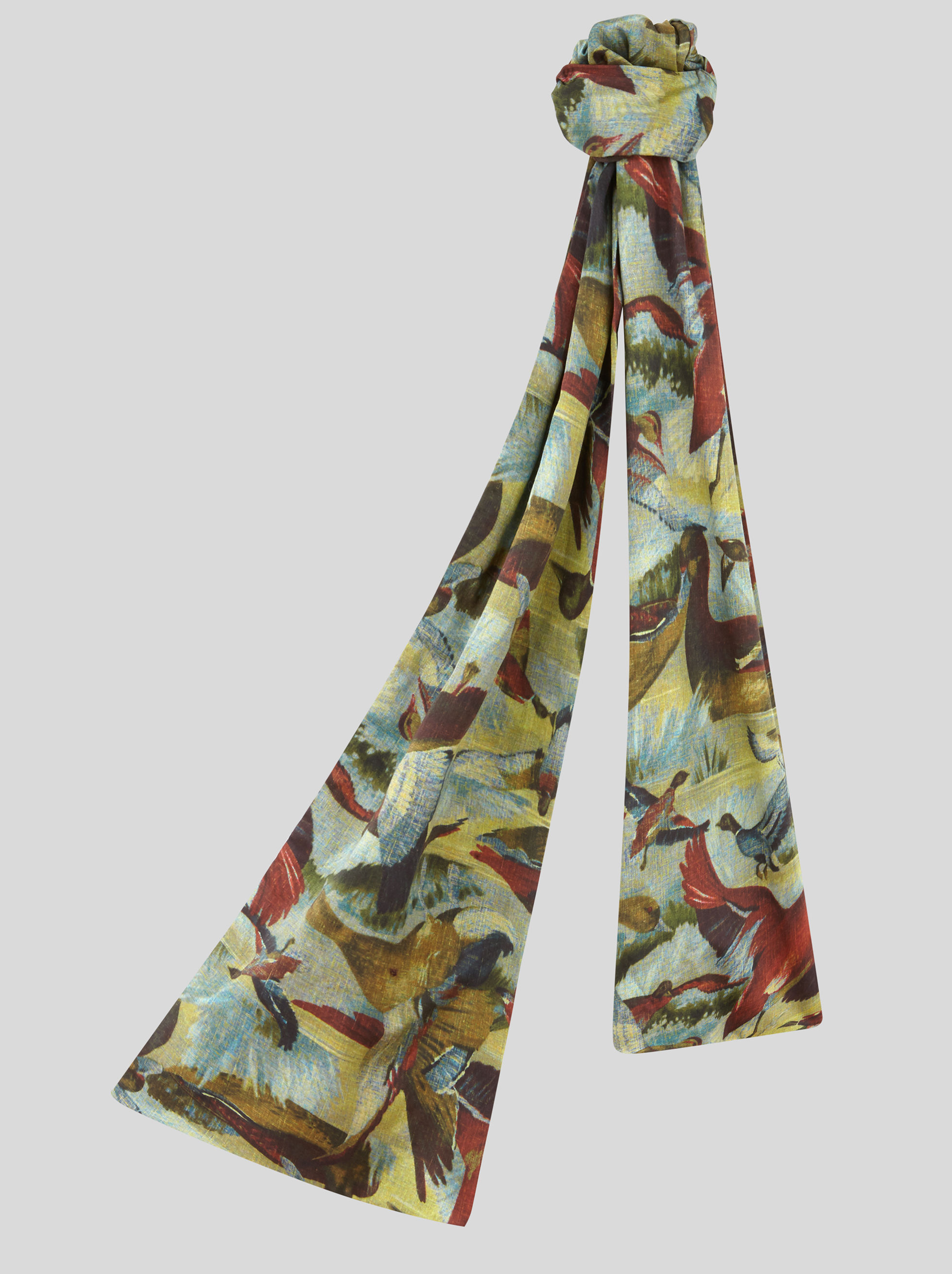 COTTON SCARF WITH DUCK PRINT