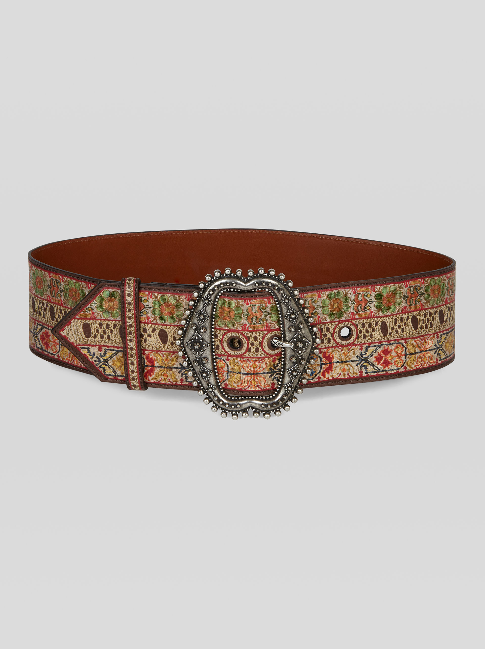 PRINTED LEATHER BELT