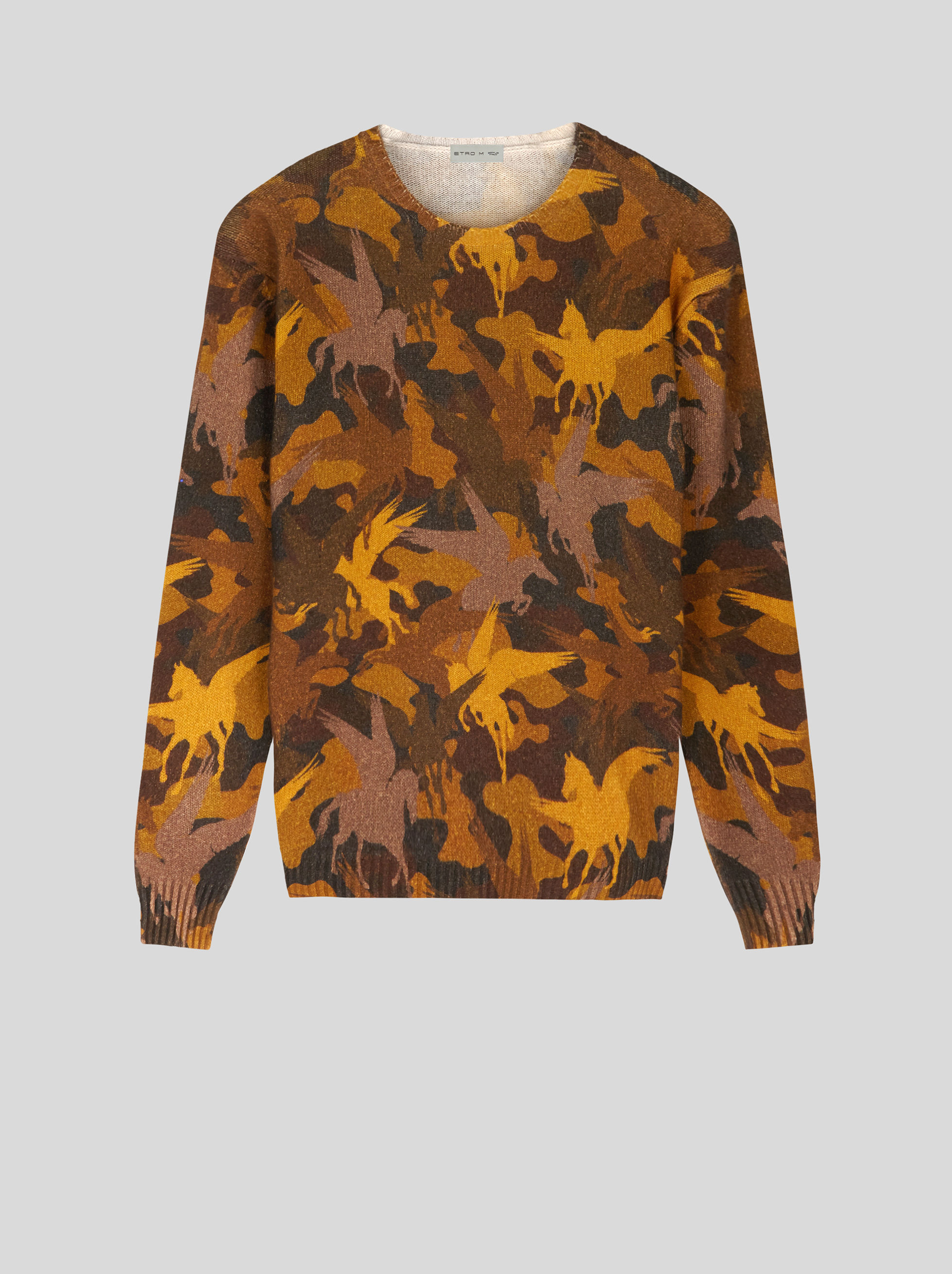 WOOL JUMPER WITH PEGASO PRINT