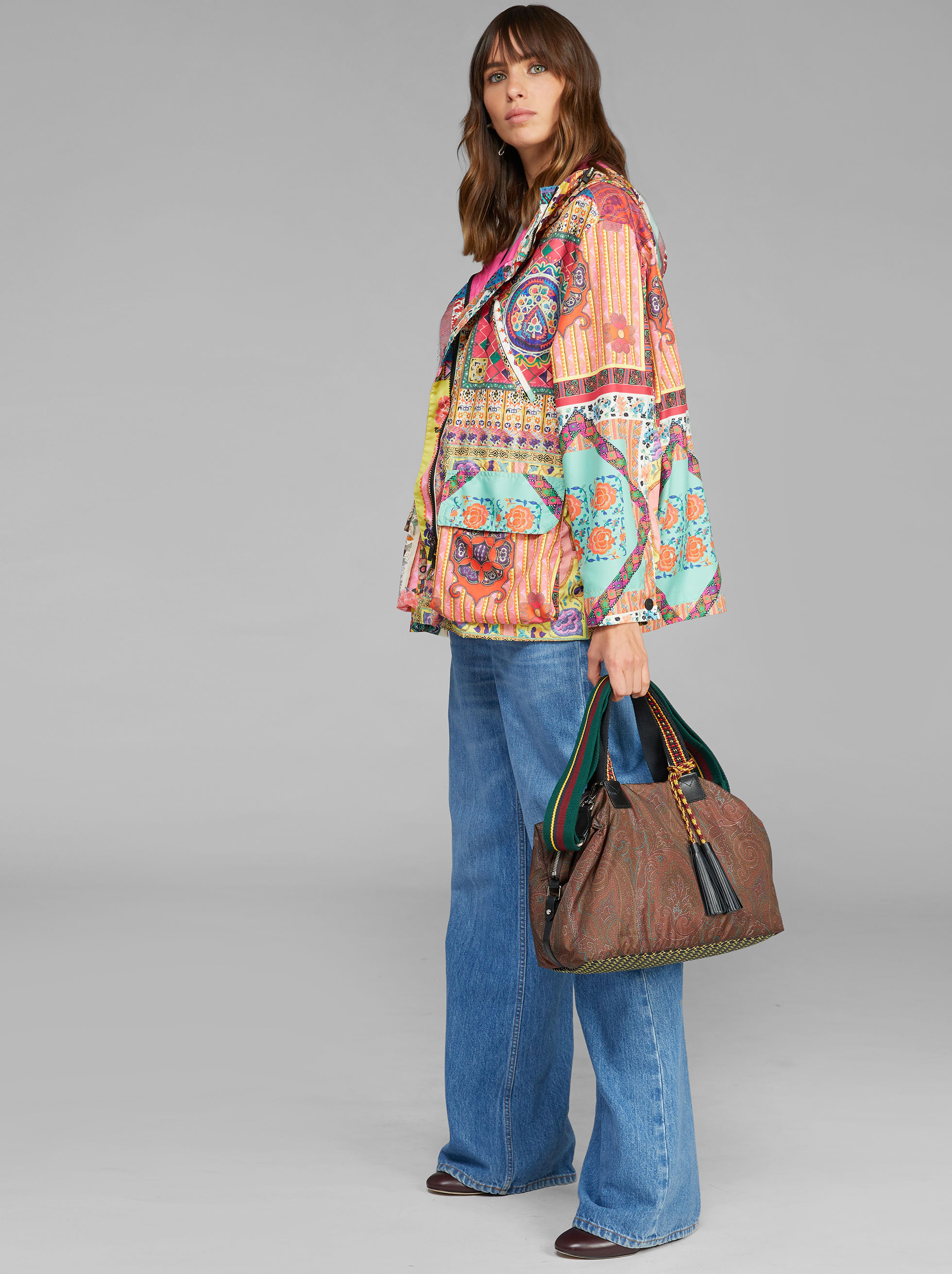 PAISLEY-PRINT BOSTON BAG