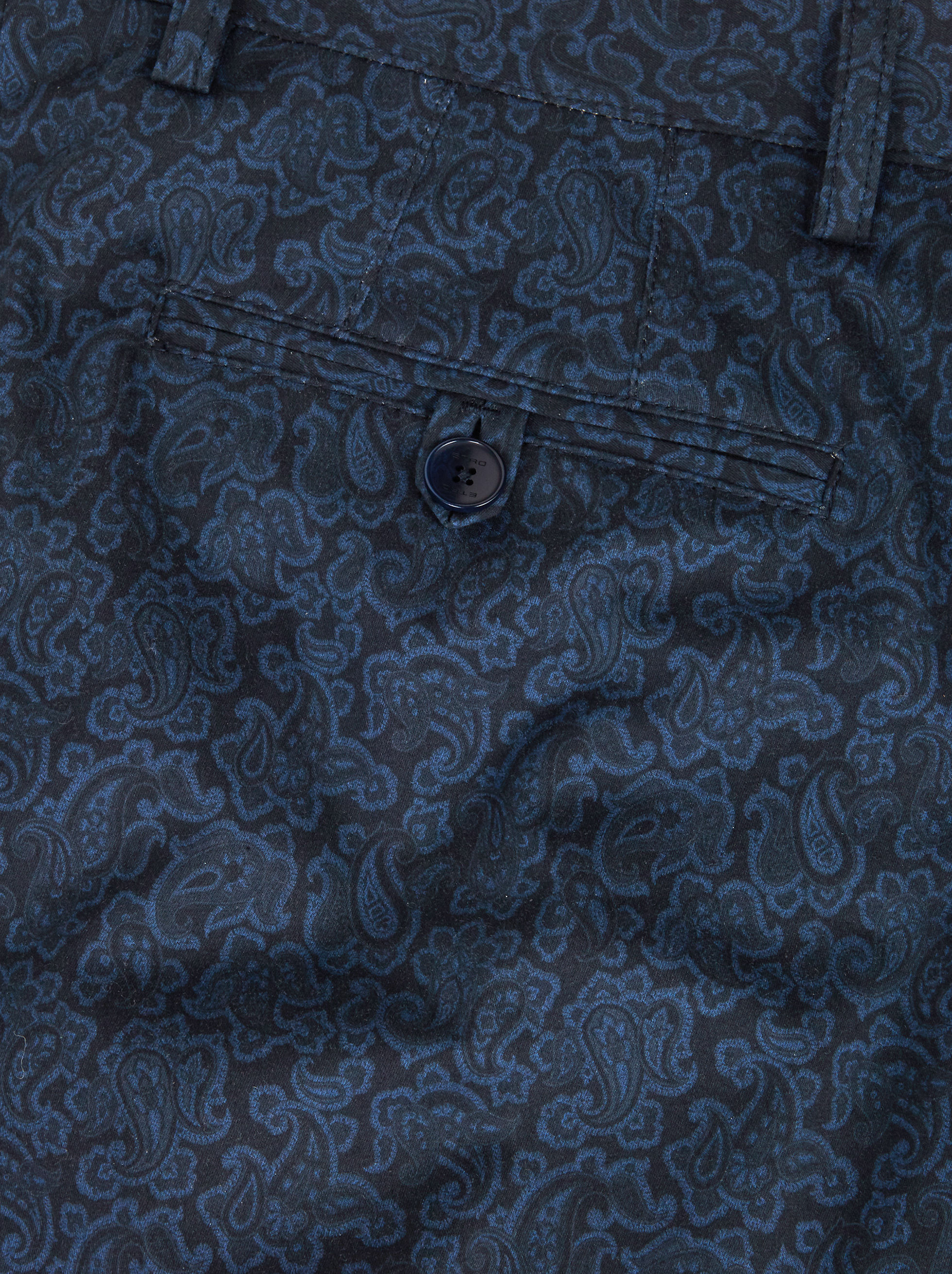 PAISLEY PRINT COTTON TROUSERS