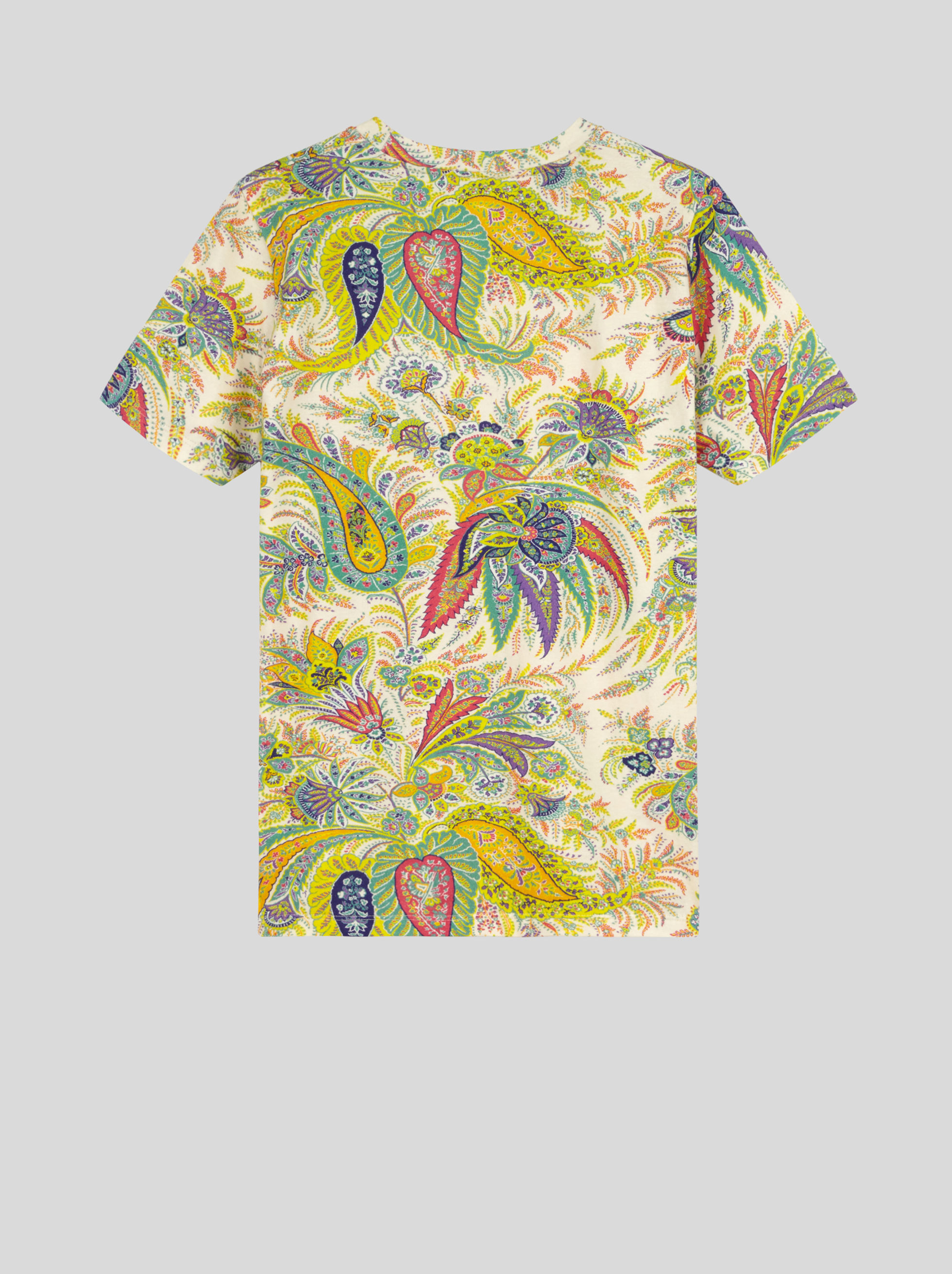PAISLEY PRINT COTTON JERSEY T-SHIRT