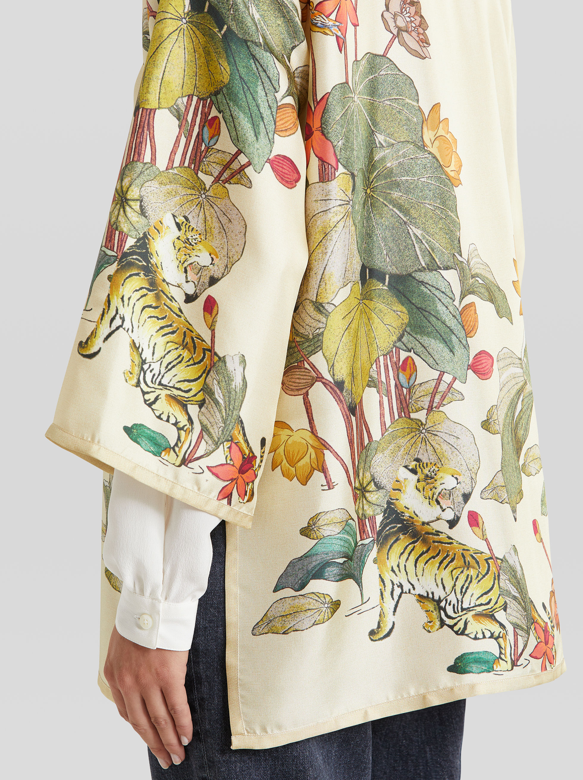 TIGER AND WATER LILY PONCHO