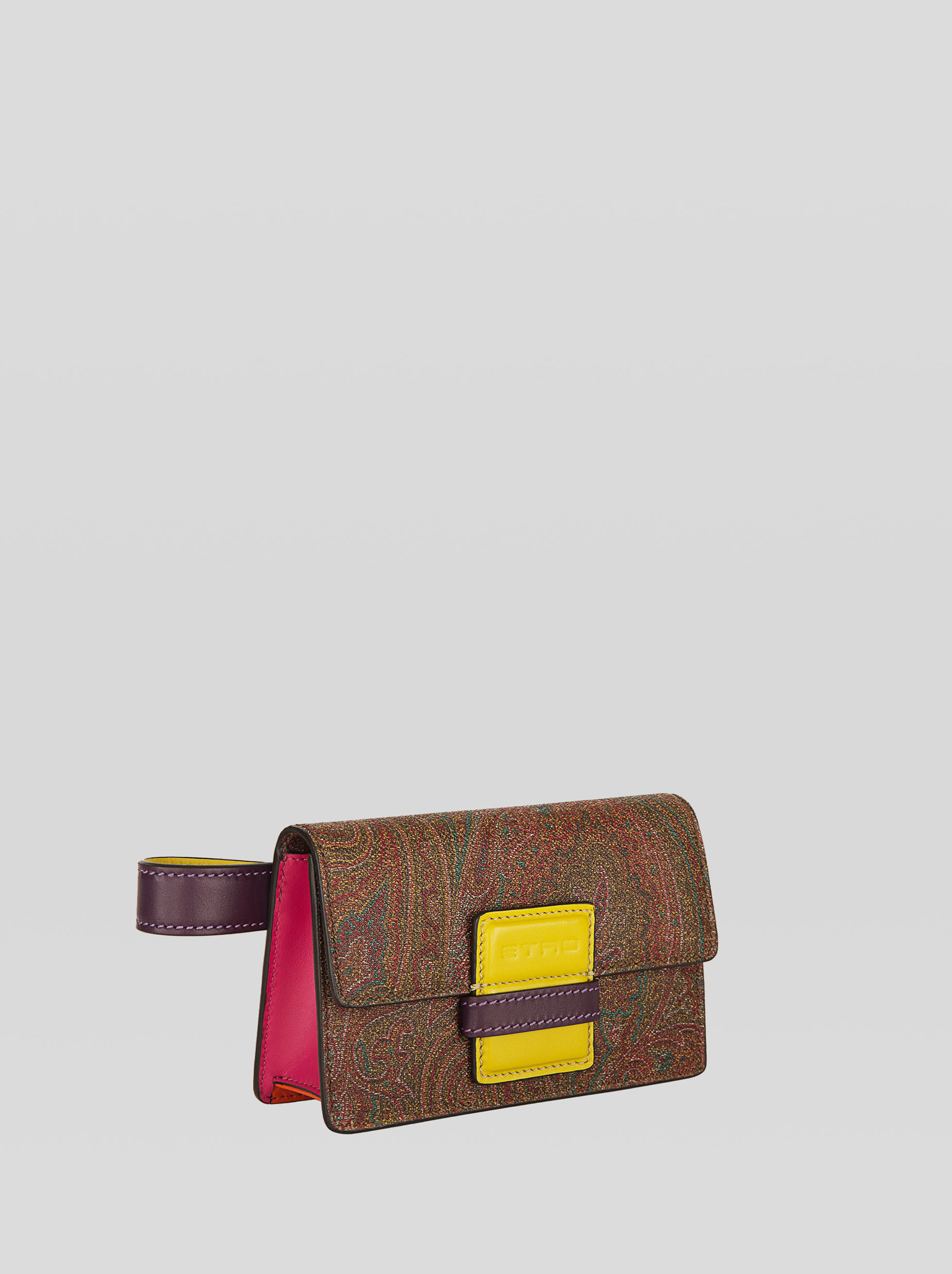 PAISLEY-PRINT RAINBOW BELT BAG