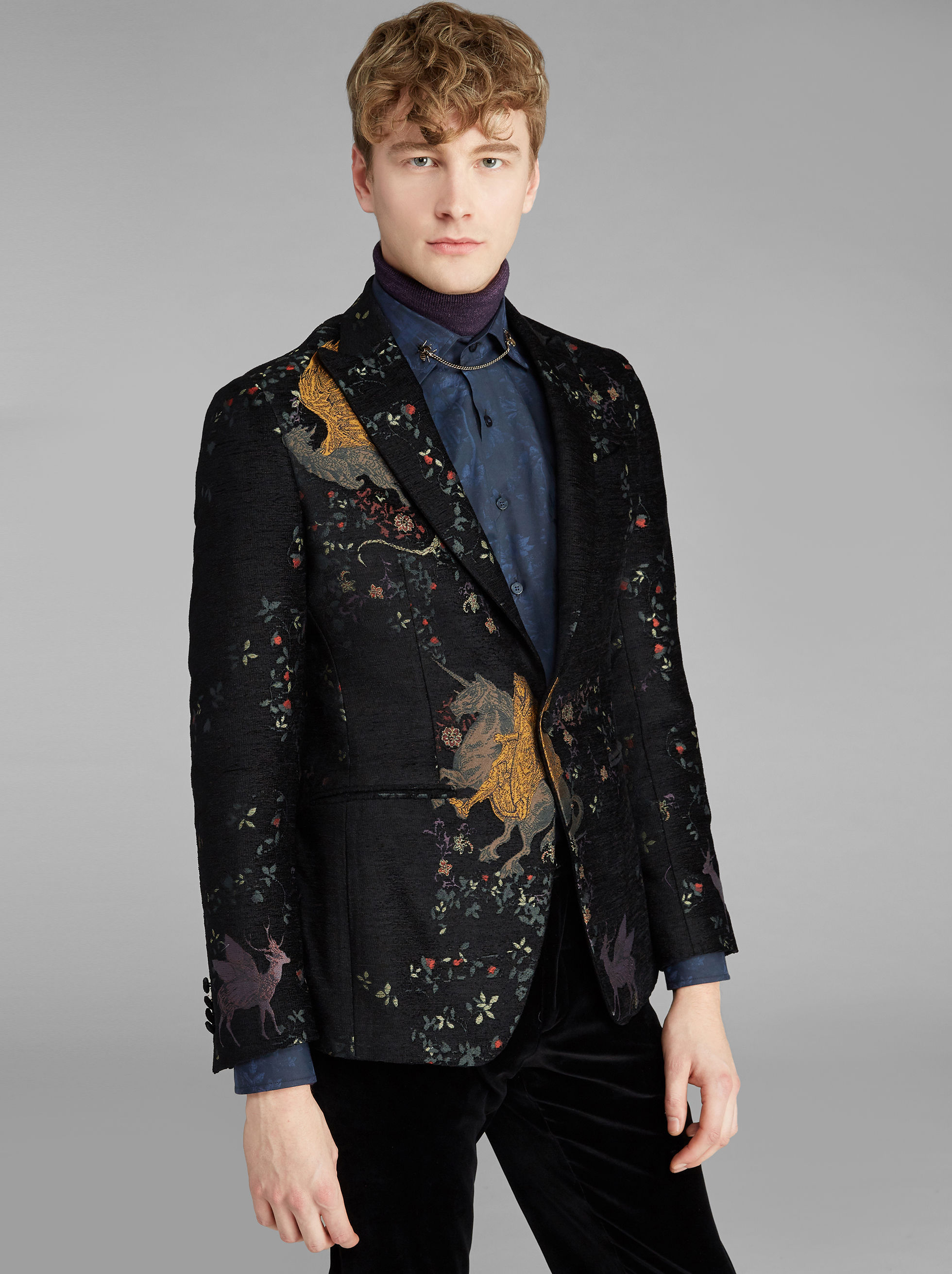 JACQUARD SEMI-TRADITIONAL JACKET