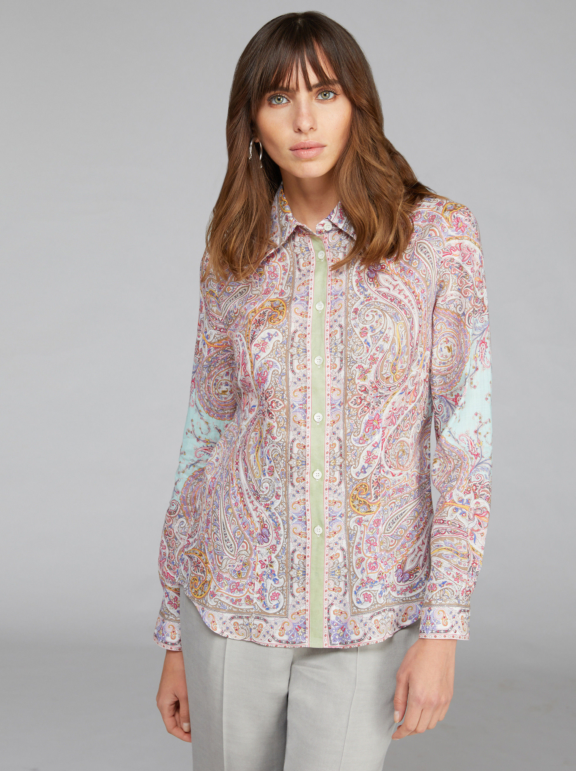 BLUSE MIT FLORALEM PAISLEYMUSTER