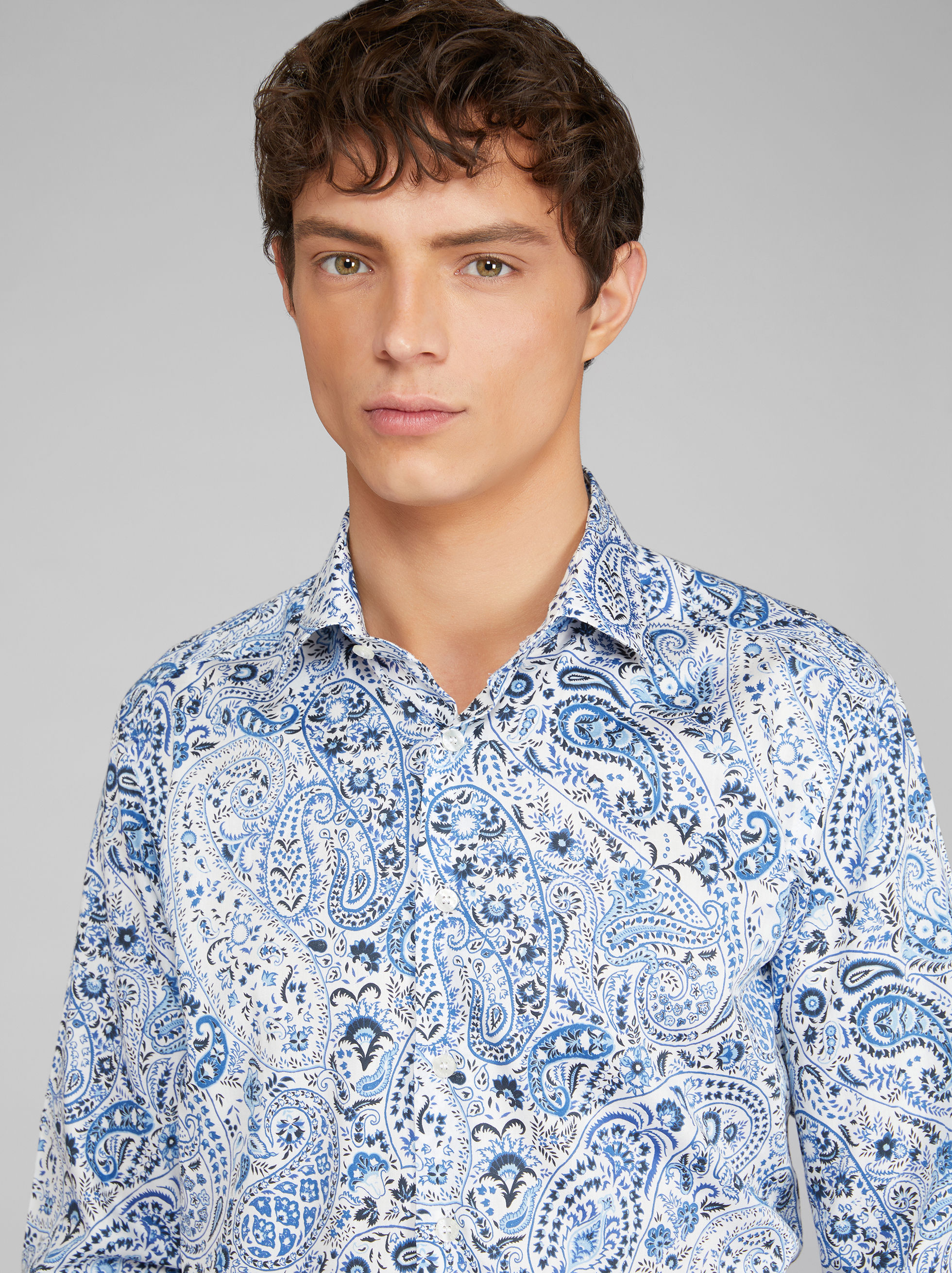 FLORAL PAISLEY COTTON SHIRT