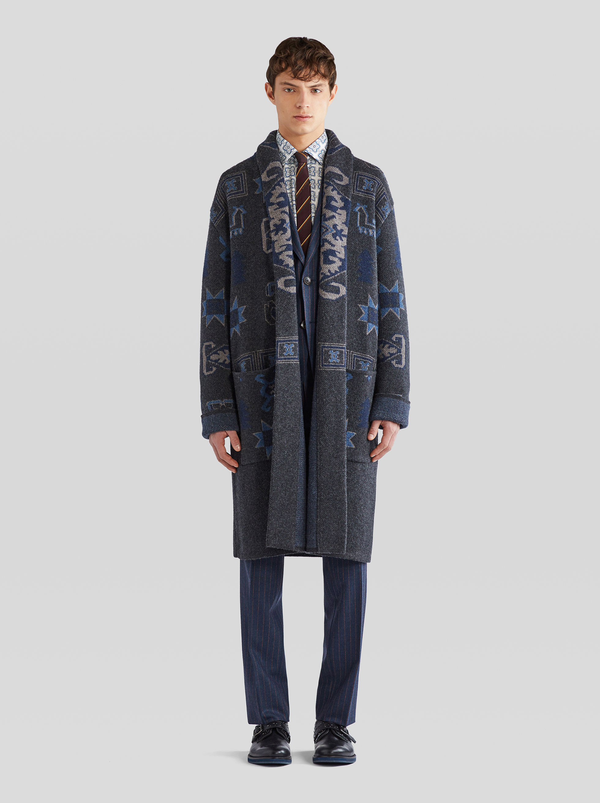 JACQUARD KNIT COAT