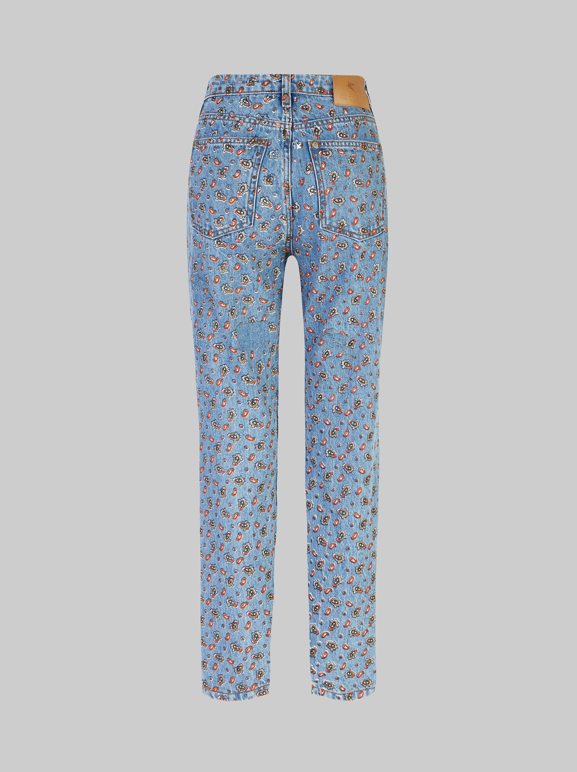 MICRO PAISLEY PRINT JEANS