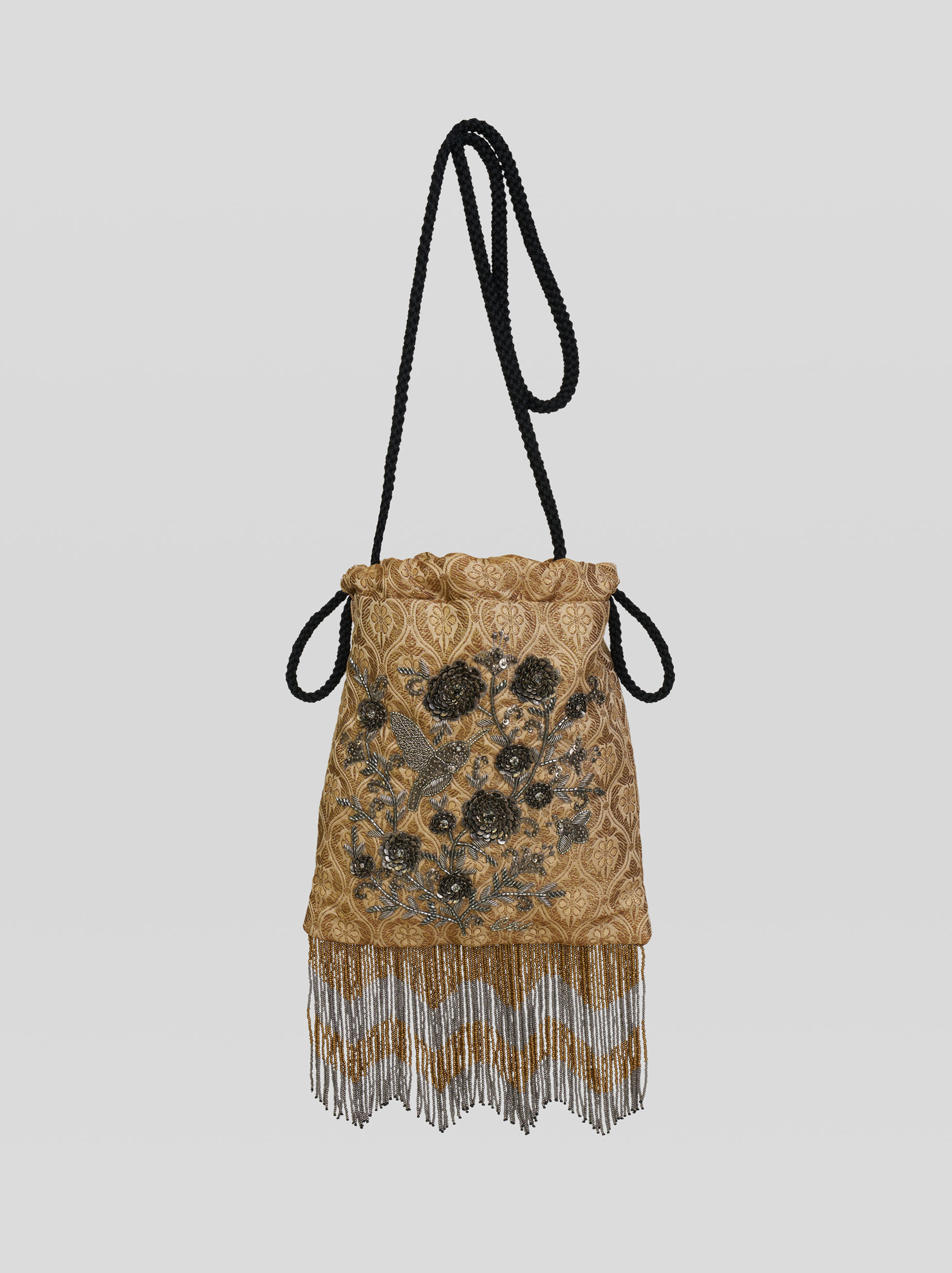 JEWEL EMBROIDERY BUCKET BAG