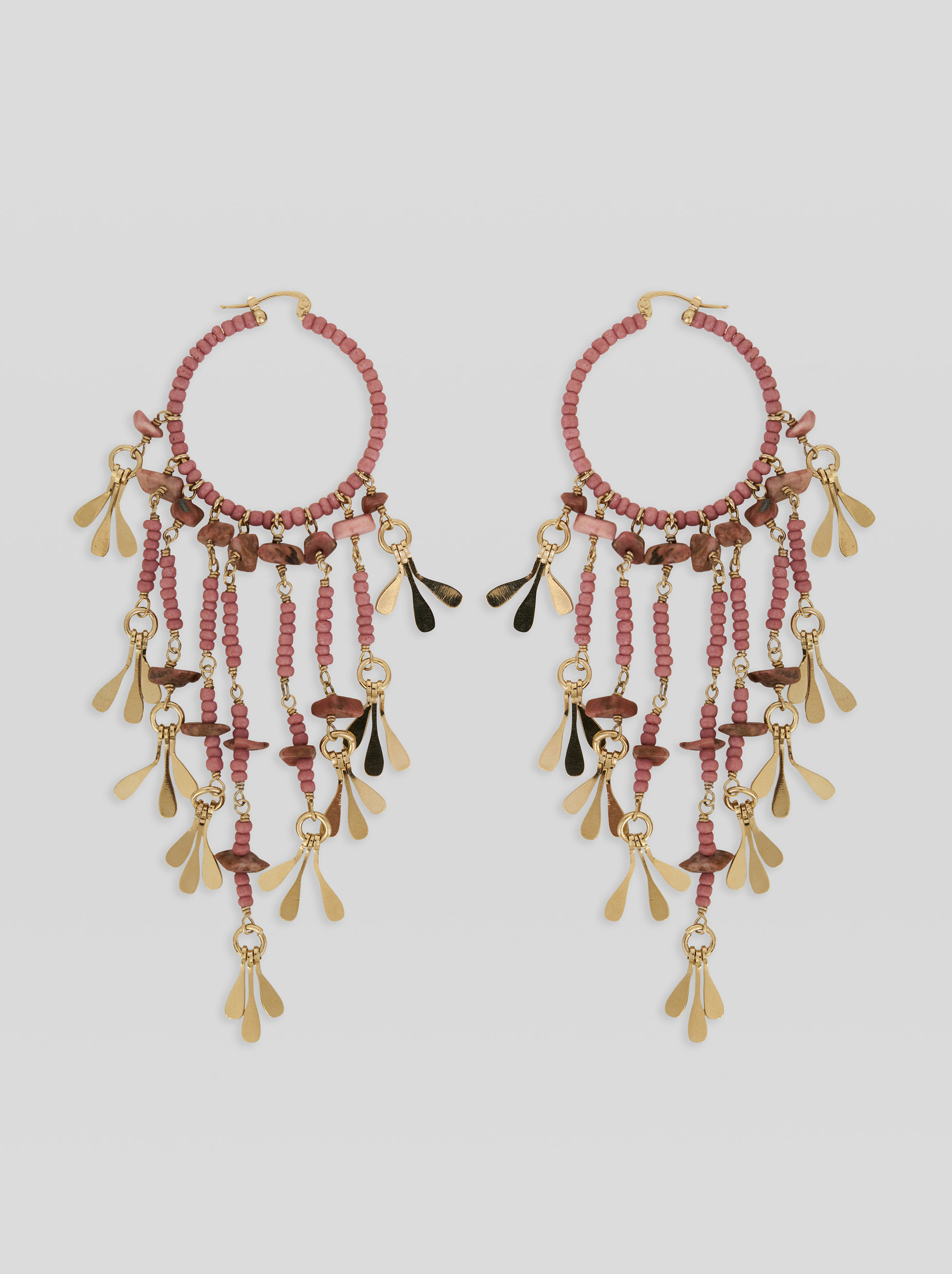FRINGED FLORAL EARRINGS