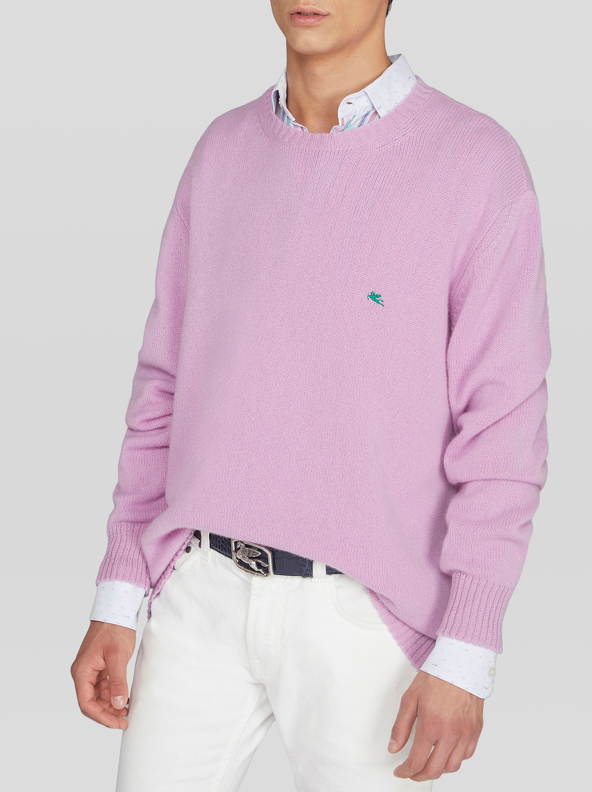 WOOL JUMPER WITH EMBROIDERED PEGASO