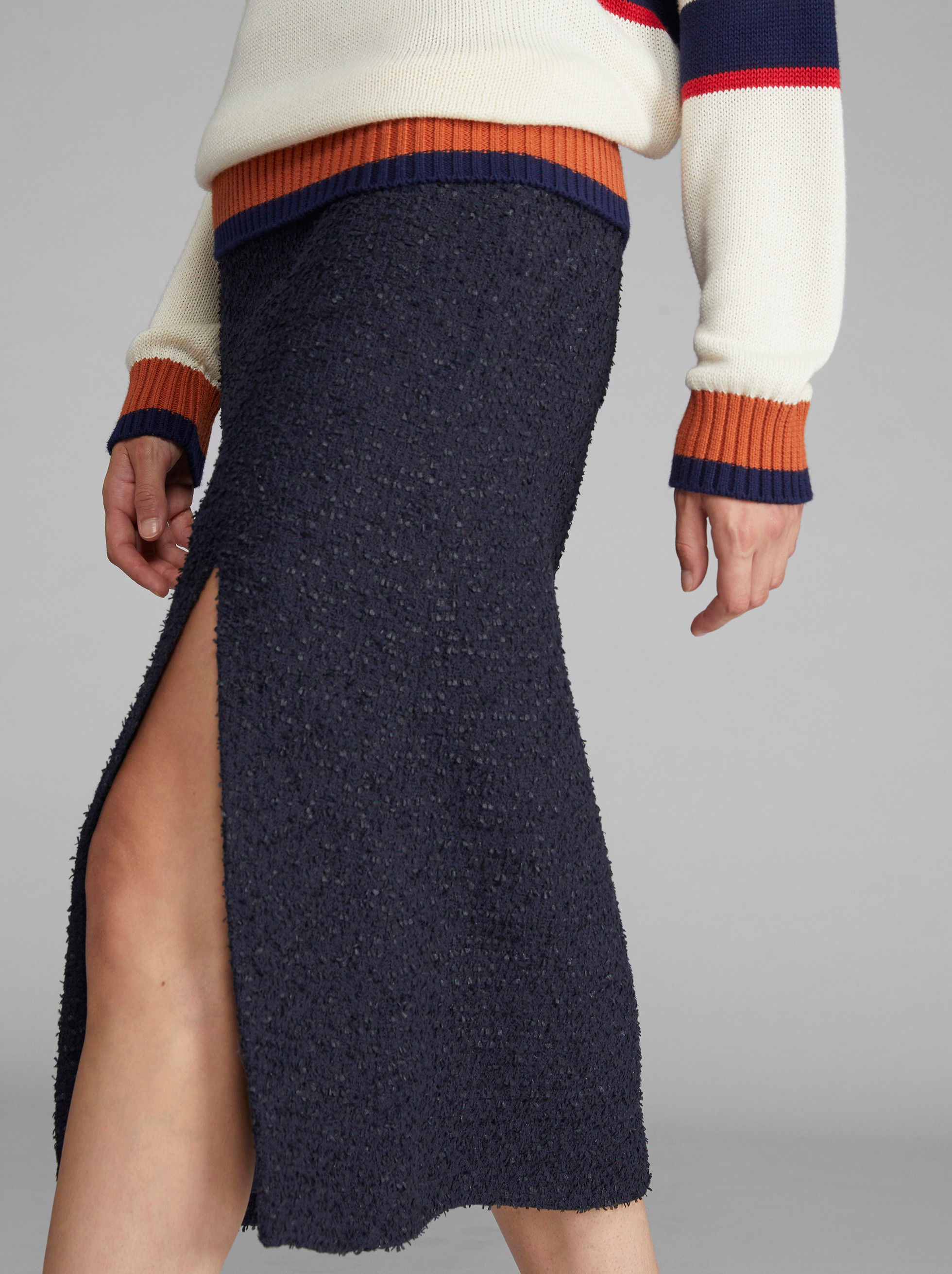 FRISÉ YARN MIDI SKIRT