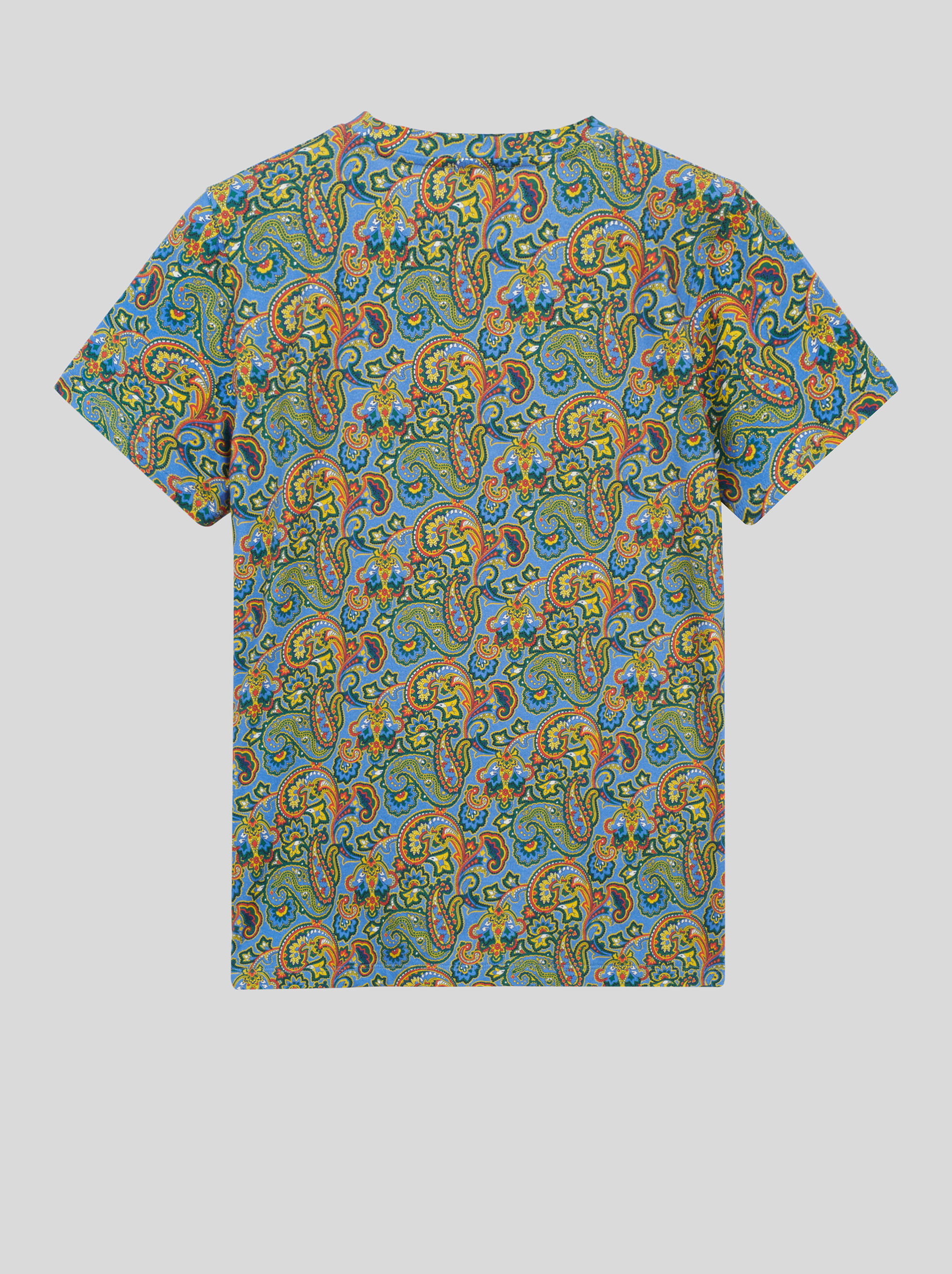 FLORAL PAISLEY COTTON T-SHIRT