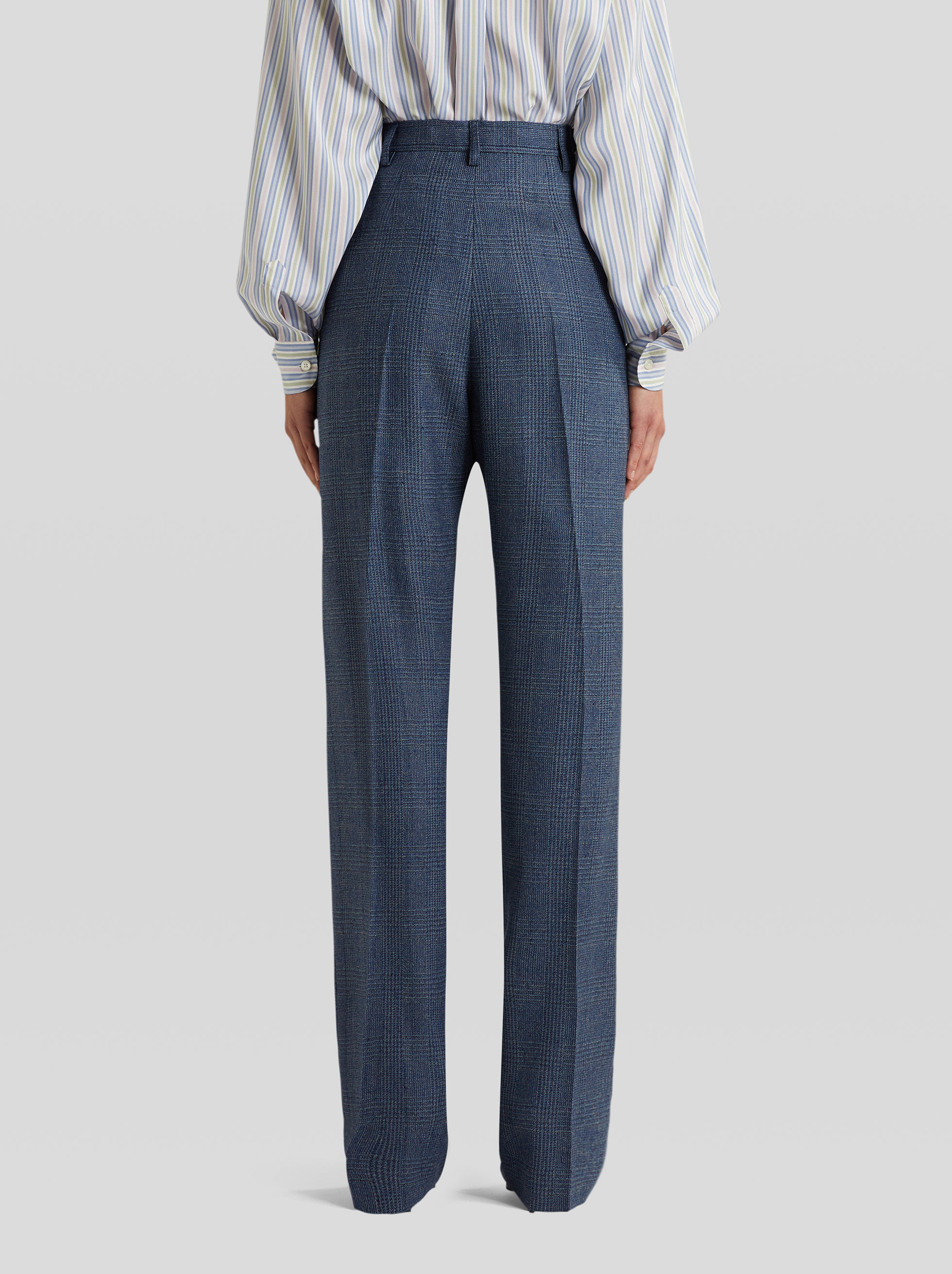 TAILORED CHECK TROUSERS
