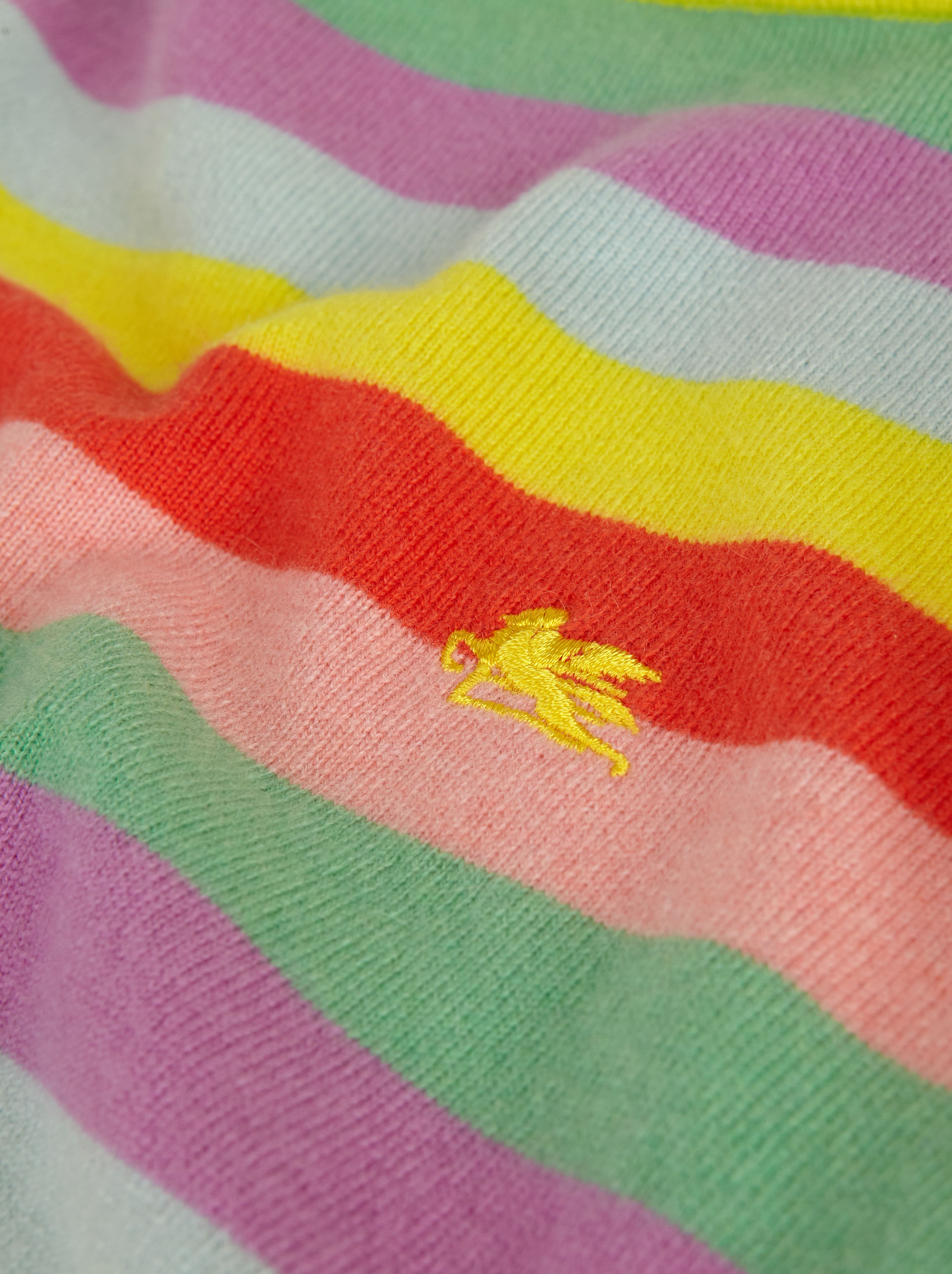 CASHMERE JUMPER WITH EMBROIDERED PEGASO