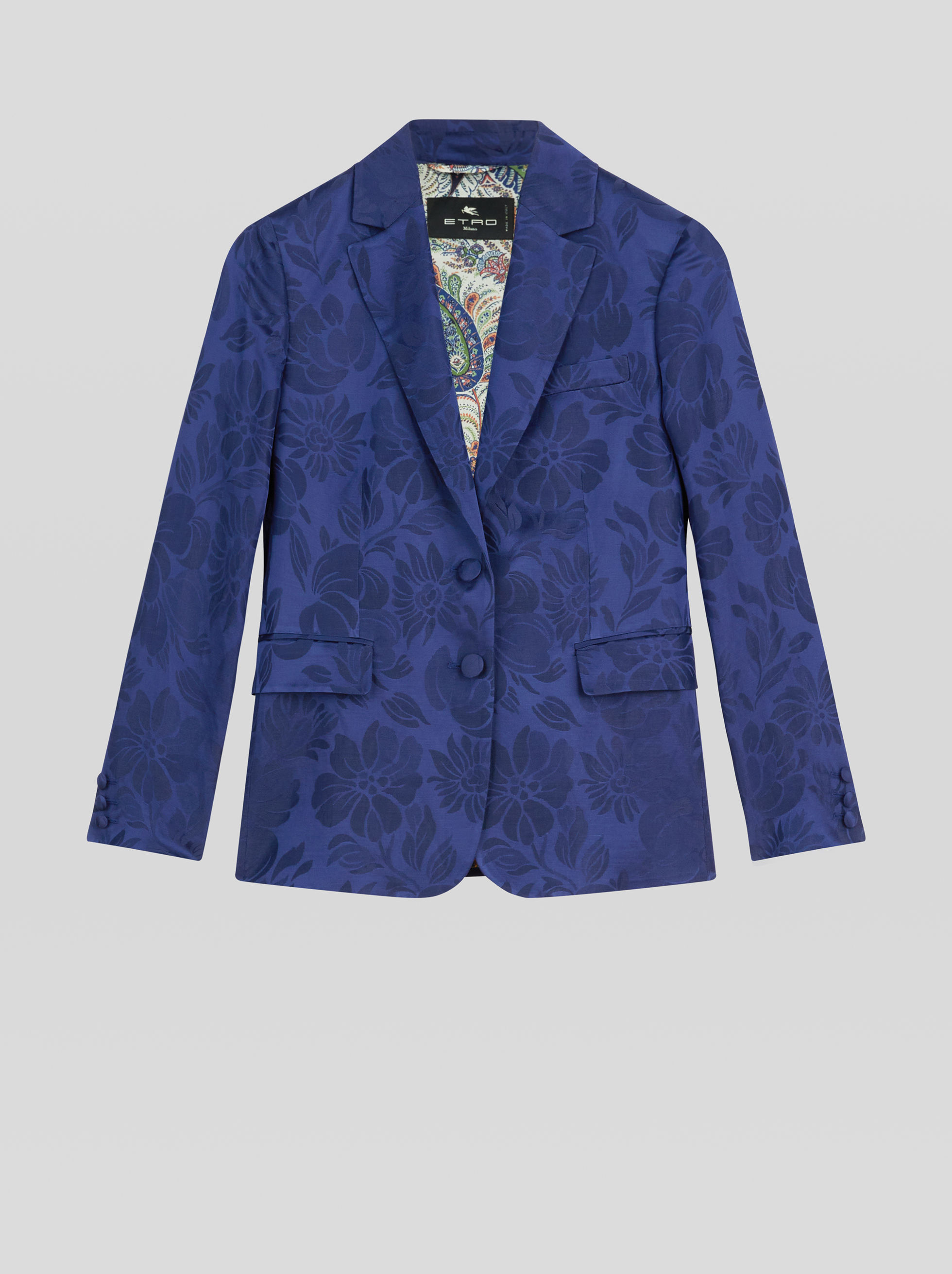JACQUARD JACKET WITH PEGASO BUTTONS