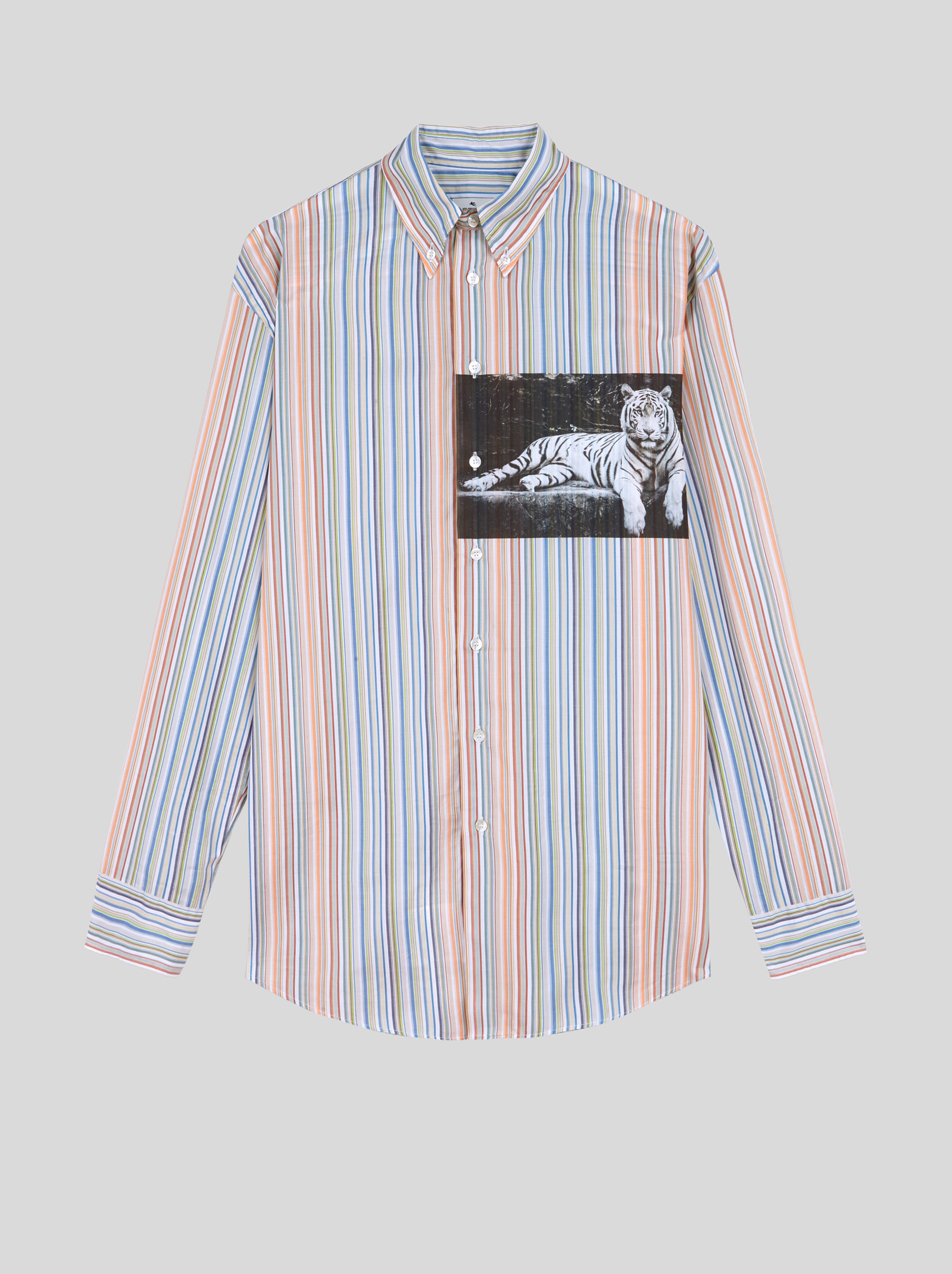 STRIPED SHIRT WITH DIGITAL PRINT