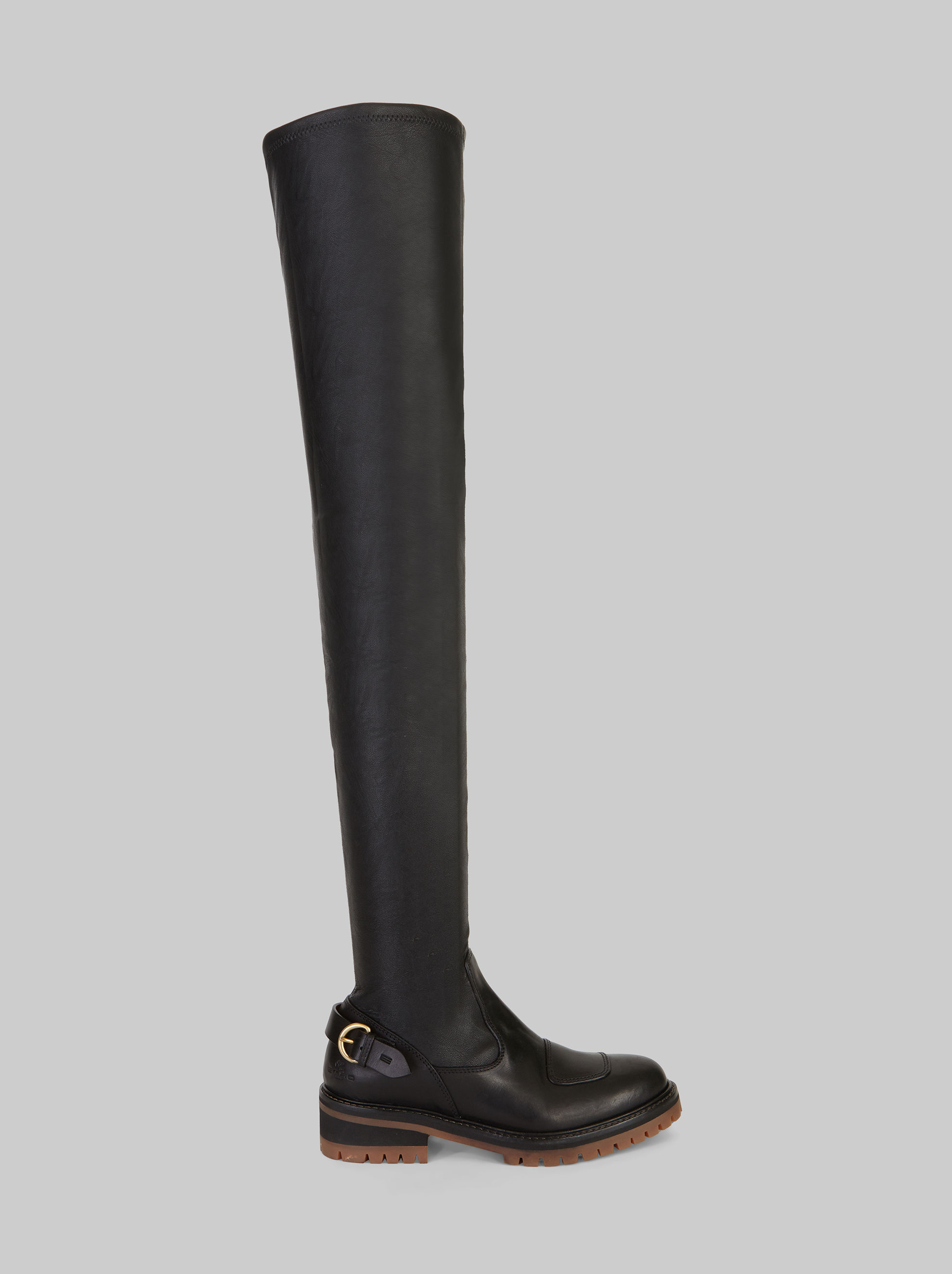 FAUX LEATHER OVER-THE-KNEE BOOTS