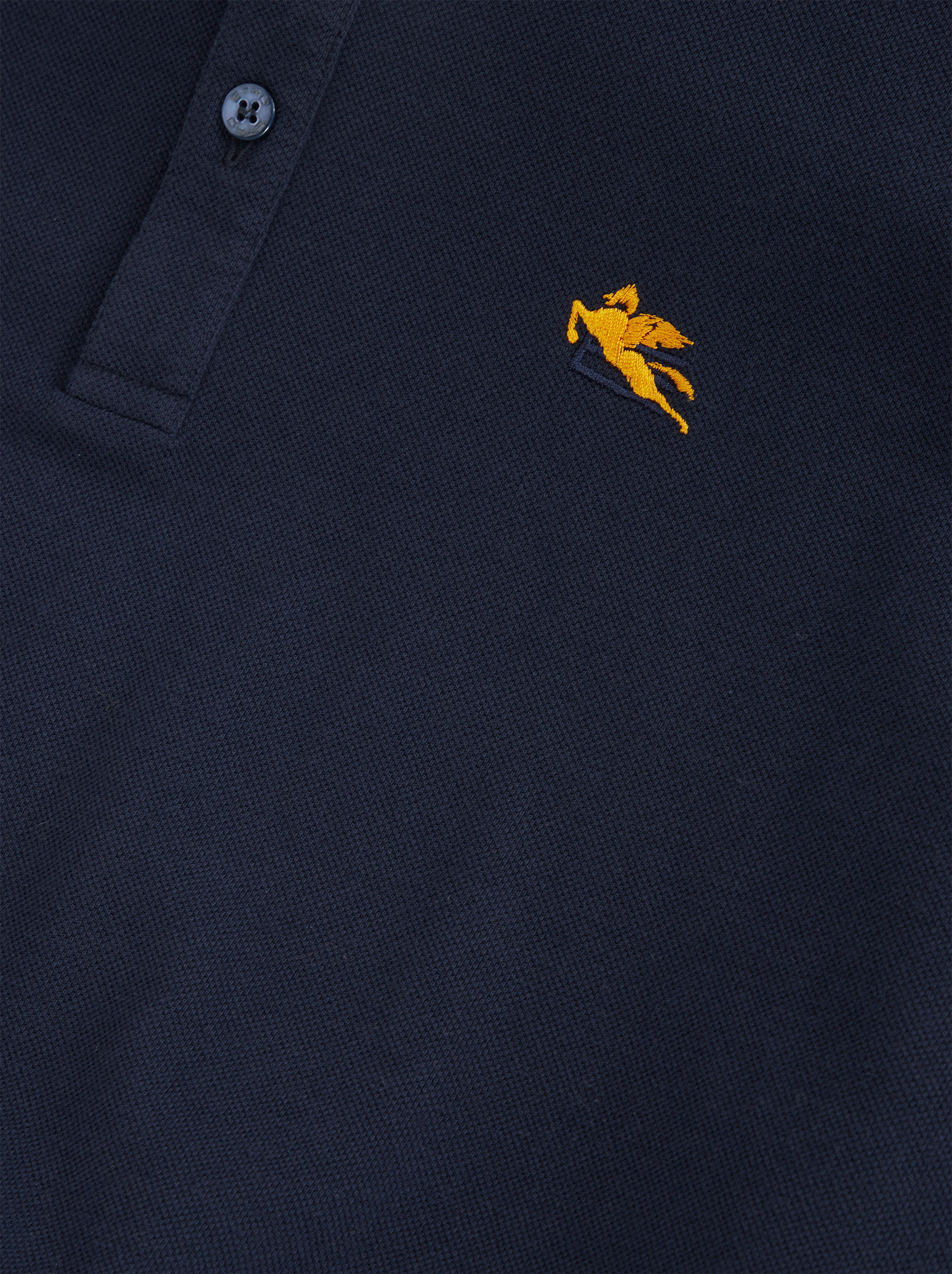 PIQUET POLO SHIRT WITH EMBROIDERED PEGASO