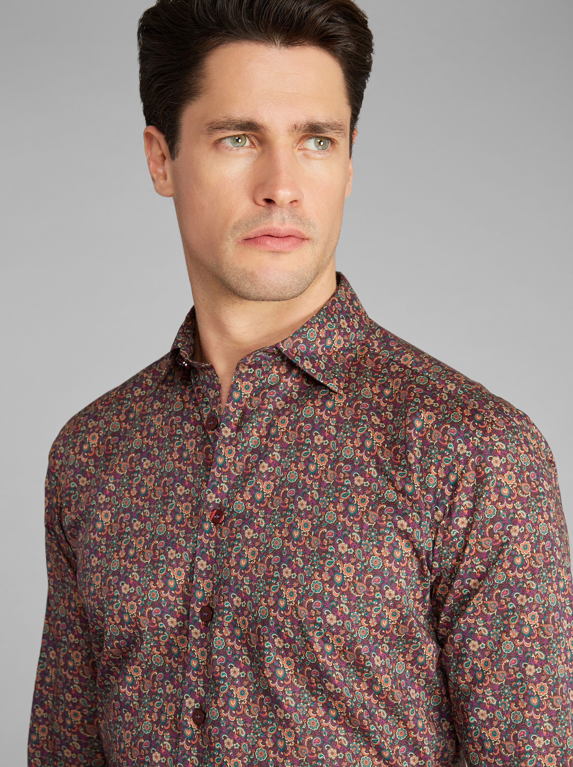 FLORAL AND PAISLEY-PRINT SHIRT